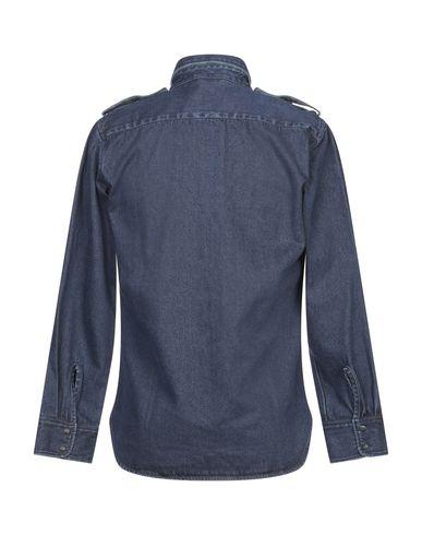 Фото 2 - Джинсовая рубашка от DEPERLU синего цвета