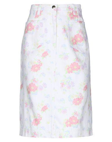 Фото - Джинсовая юбка белого цвета