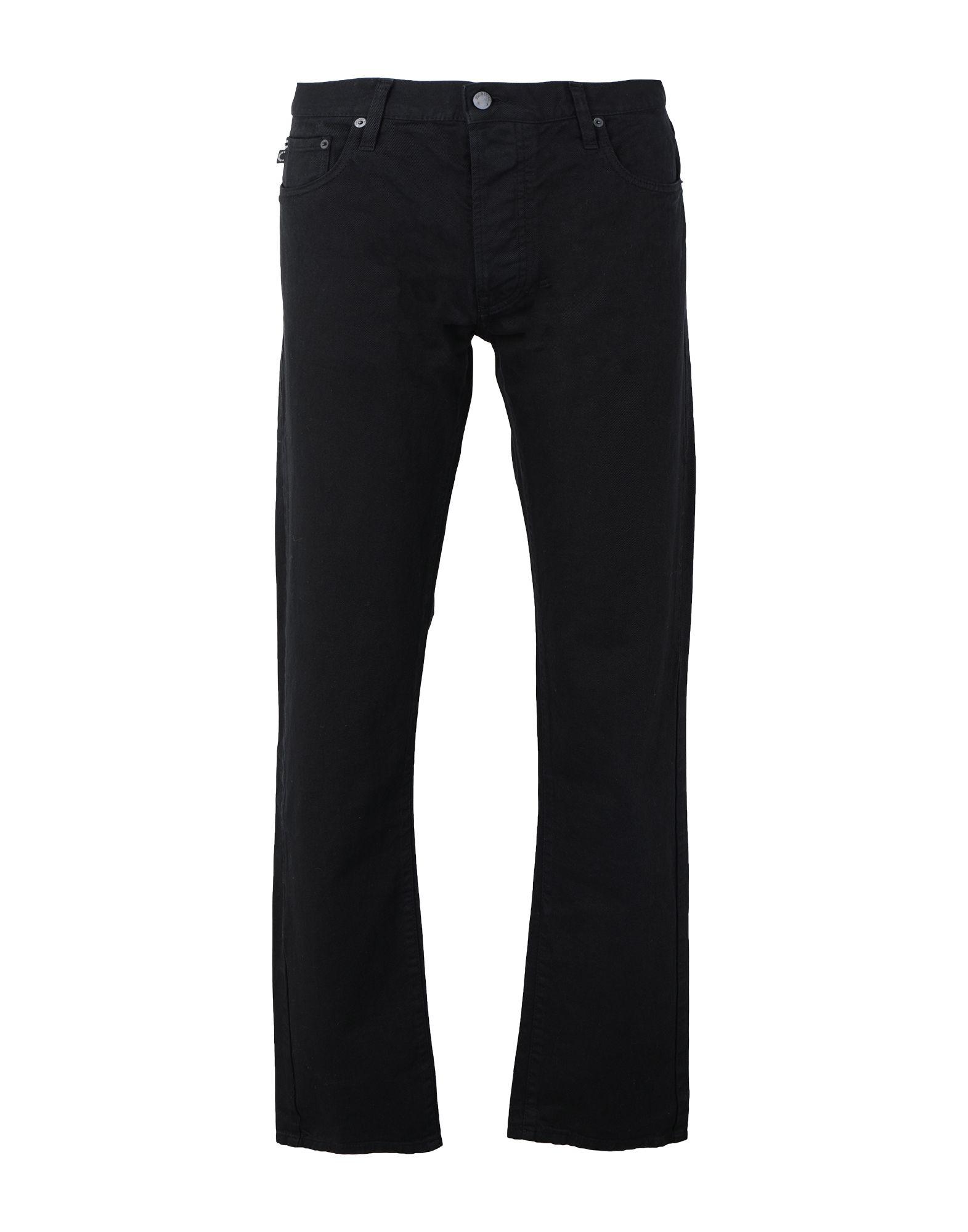 《セール開催中》FIORUCCI メンズ ジーンズ ブラック 28 コットン 100% ROWAN STANDARD SLIM