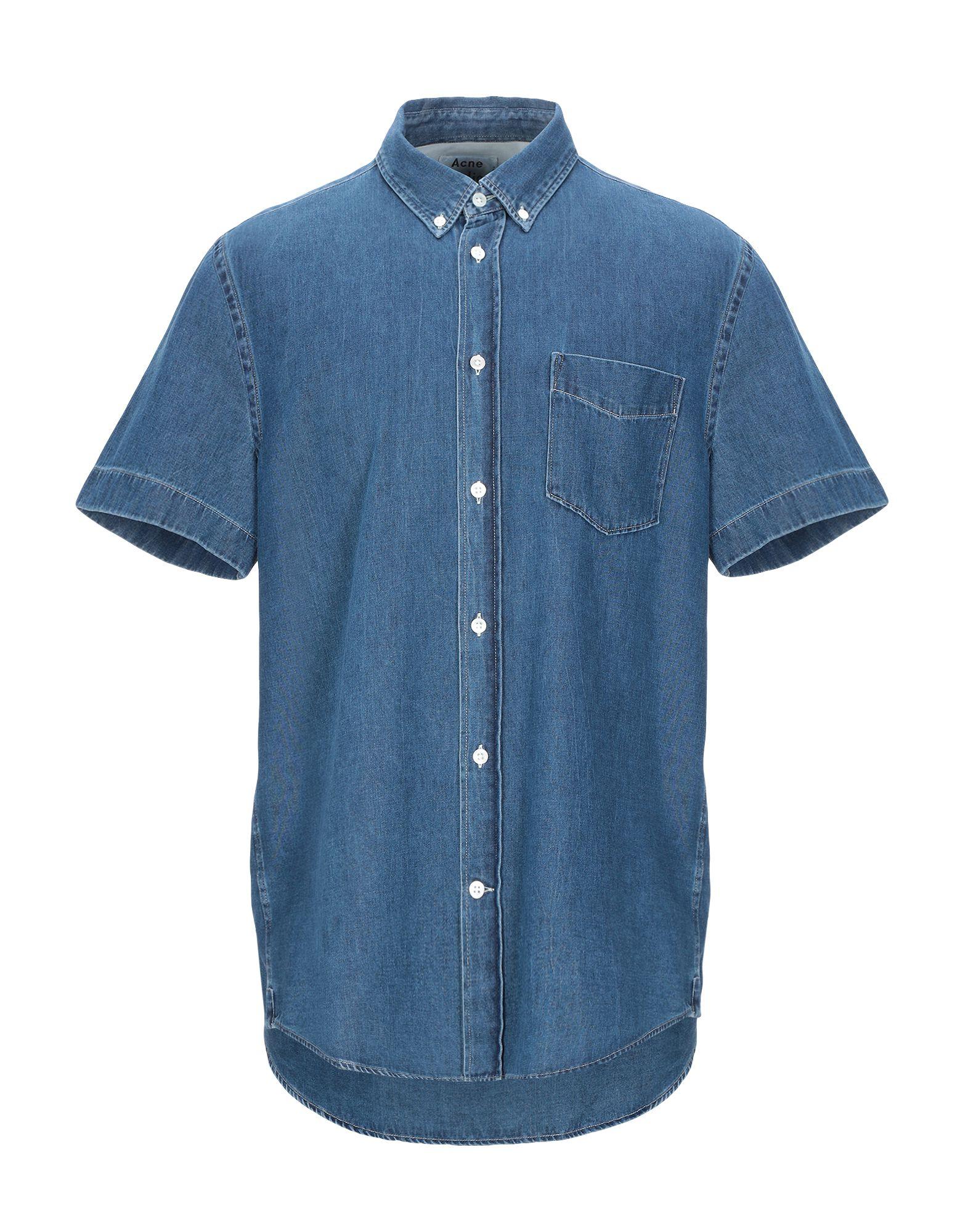 ACNE STUDIOS Джинсовая рубашка yuzhe studios черная рубашка с контрастным карманом rushmore