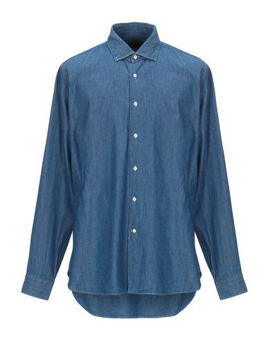 Фото - Джинсовая рубашка от SIVIGLIA синего цвета