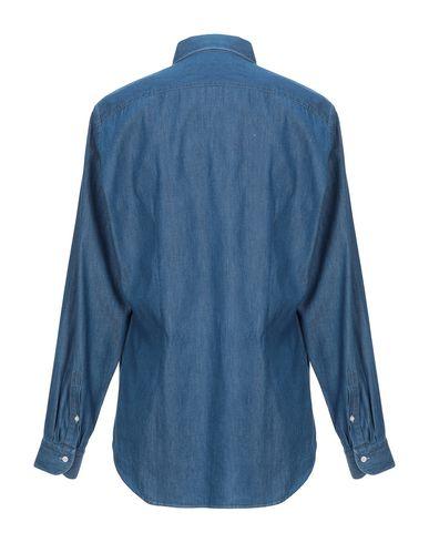 Фото 2 - Джинсовая рубашка от SIVIGLIA синего цвета