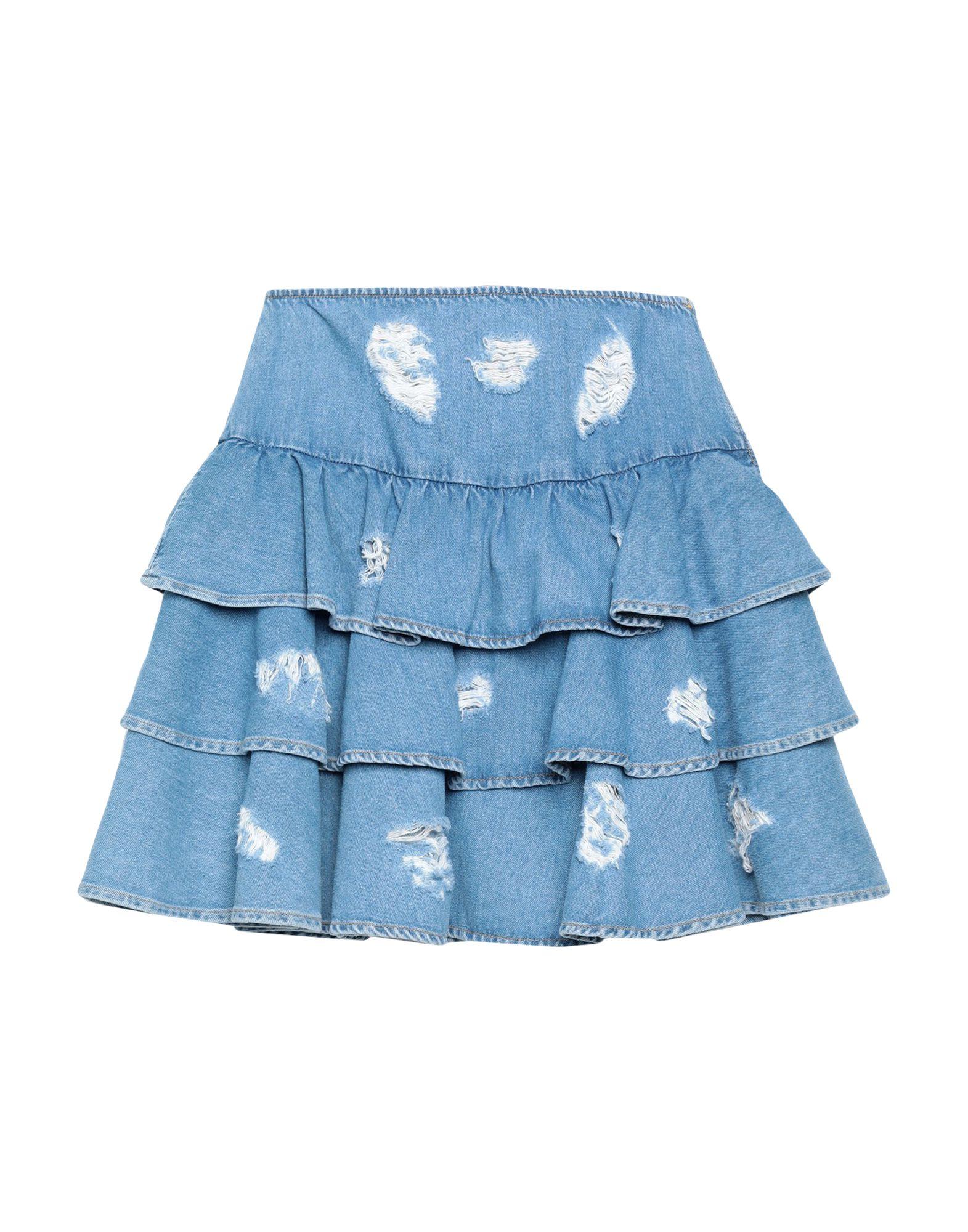 jeremy scott мини юбка JEREMY SCOTT Джинсовая юбка