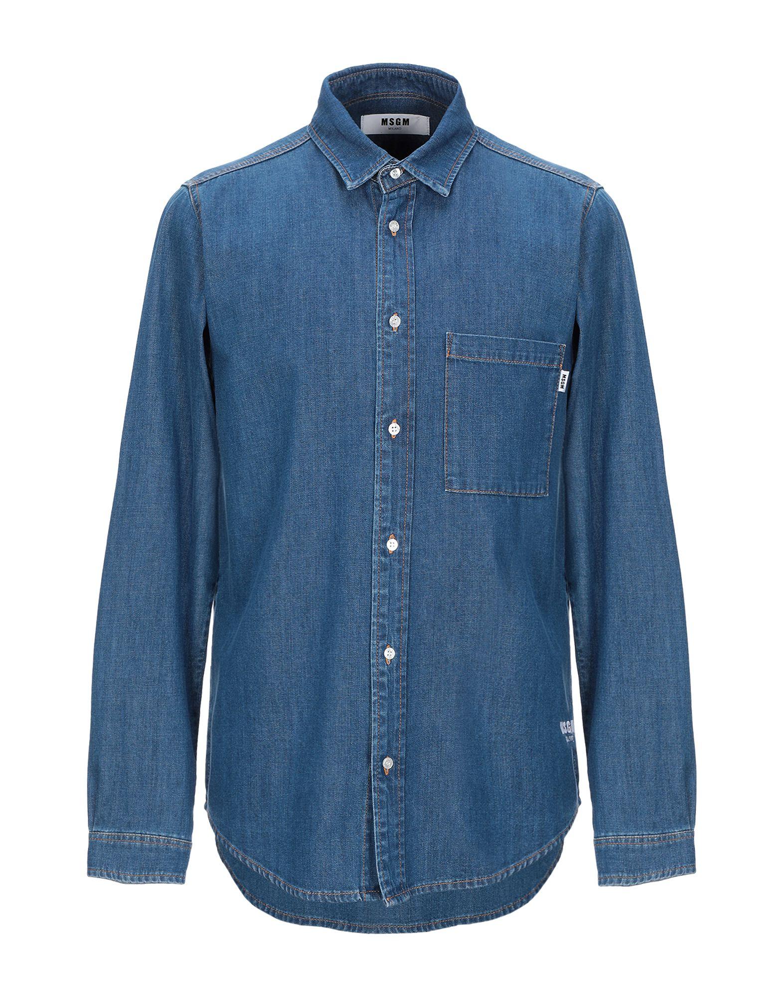 MSGM Джинсовая рубашка msgm джинсовая куртка с нашивкой