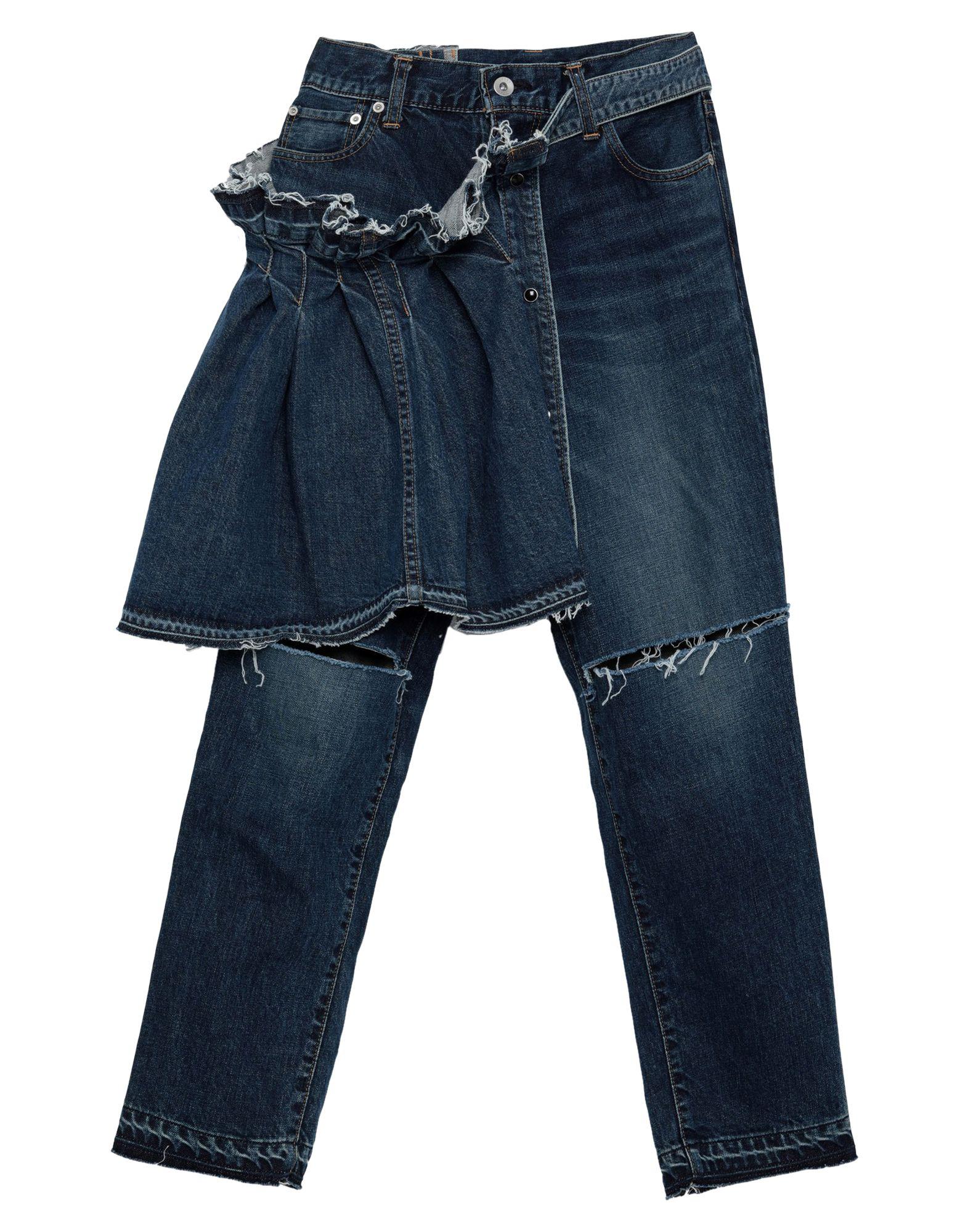купить SACAI Джинсовые брюки по цене 32500 рублей