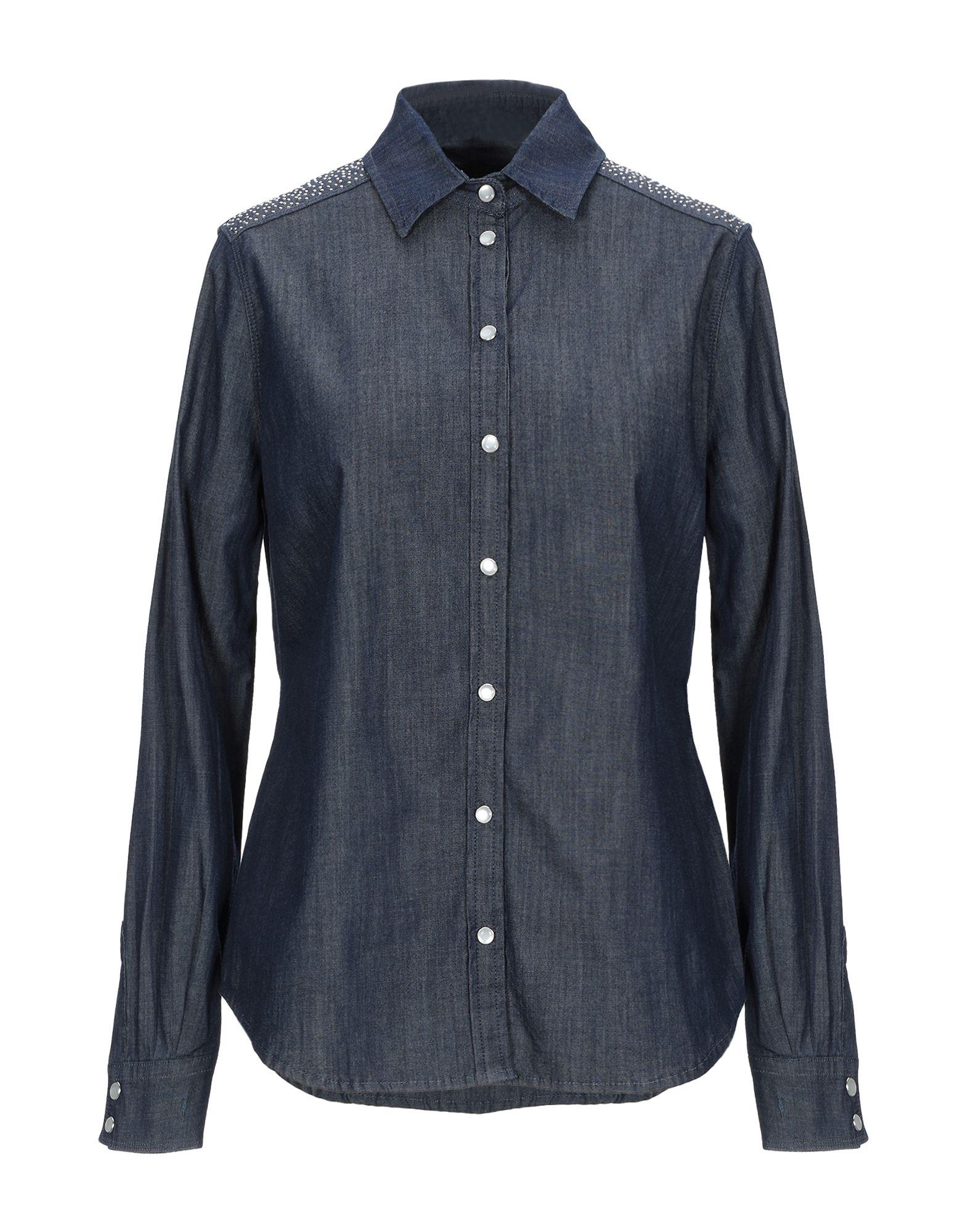 TRUSSARDI JEANS Джинсовая рубашка цена 2017