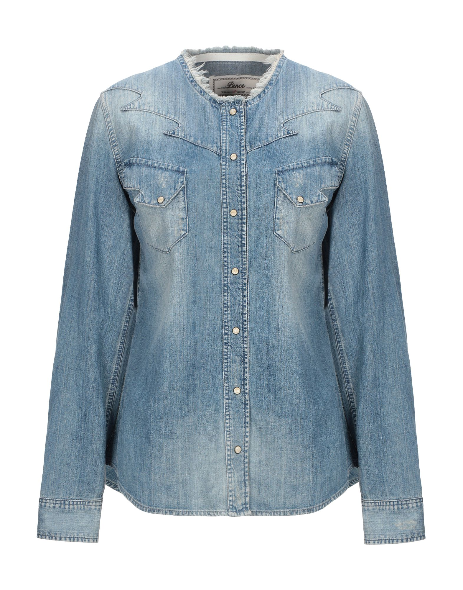 PENCE Джинсовая рубашка pence джинсовая рубашка