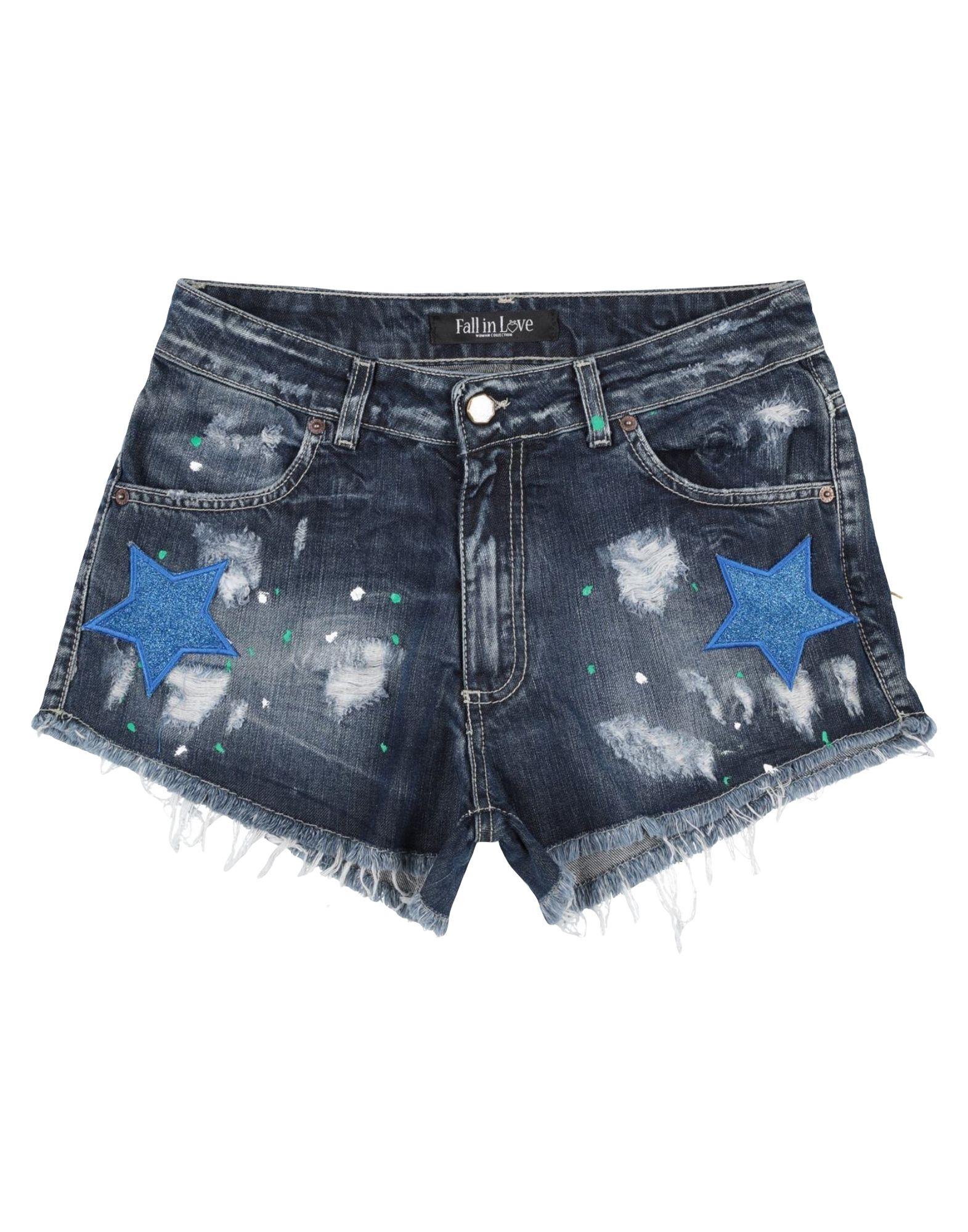 FALL IN LOVE Джинсовые шорты шорты кораллоовые in extenso