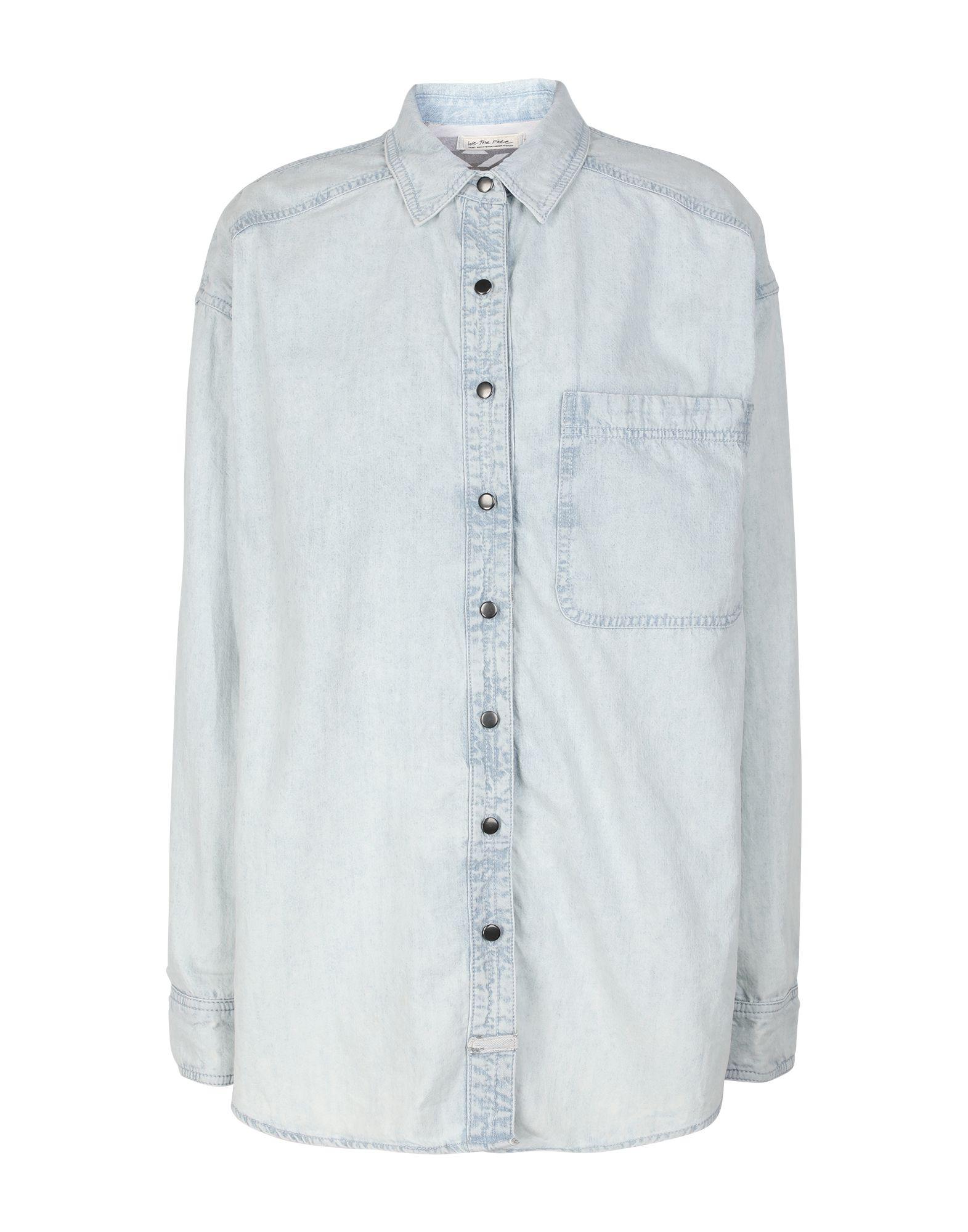 FREE PEOPLE Джинсовая рубашка people джинсовая рубашка