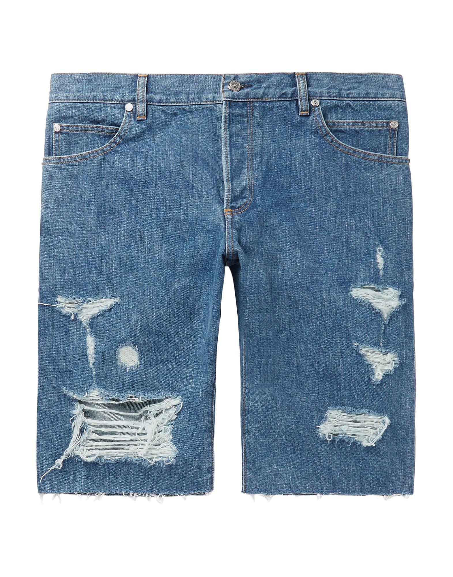 《セール開催中》BALMAIN メンズ デニムバミューダパンツ ブルー 33 コットン 100%