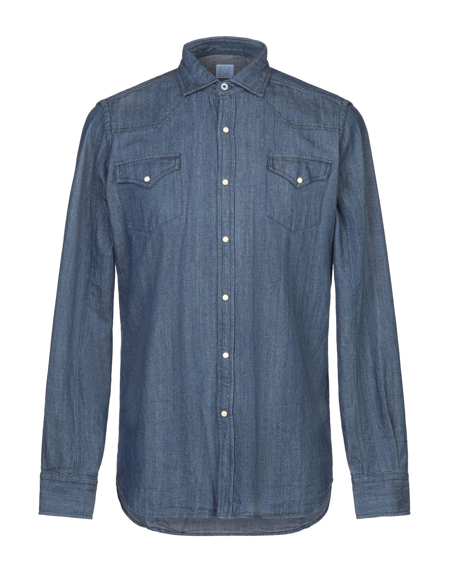 Фото - ALESSANDRO GHERARDI Джинсовая рубашка сумка alessandro birutti alessandro birutti mp002xw18vzn