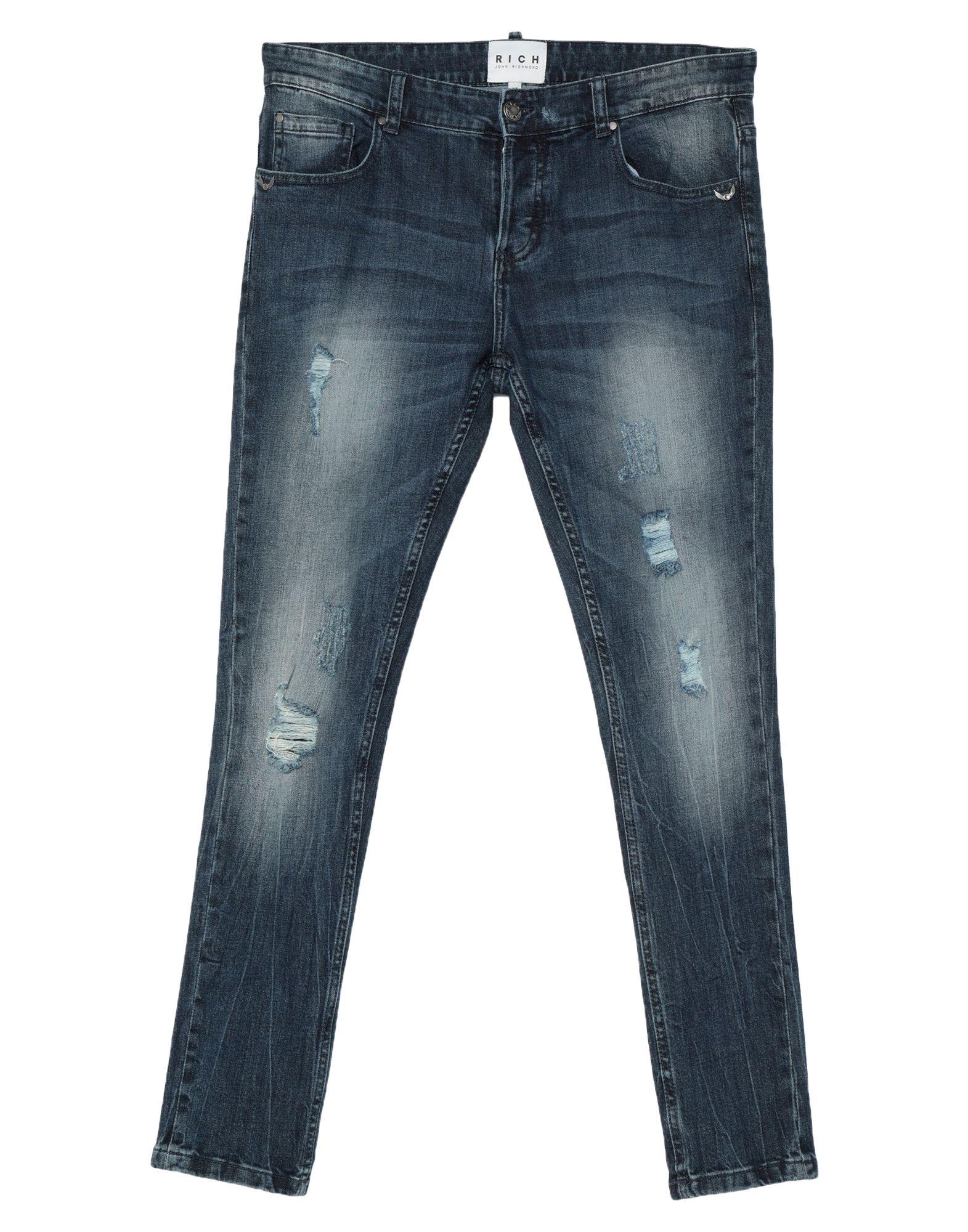 《セール開催中》JOHN RICHMOND メンズ ジーンズ ブルー 30 コットン 99% / ポリウレタン 1%