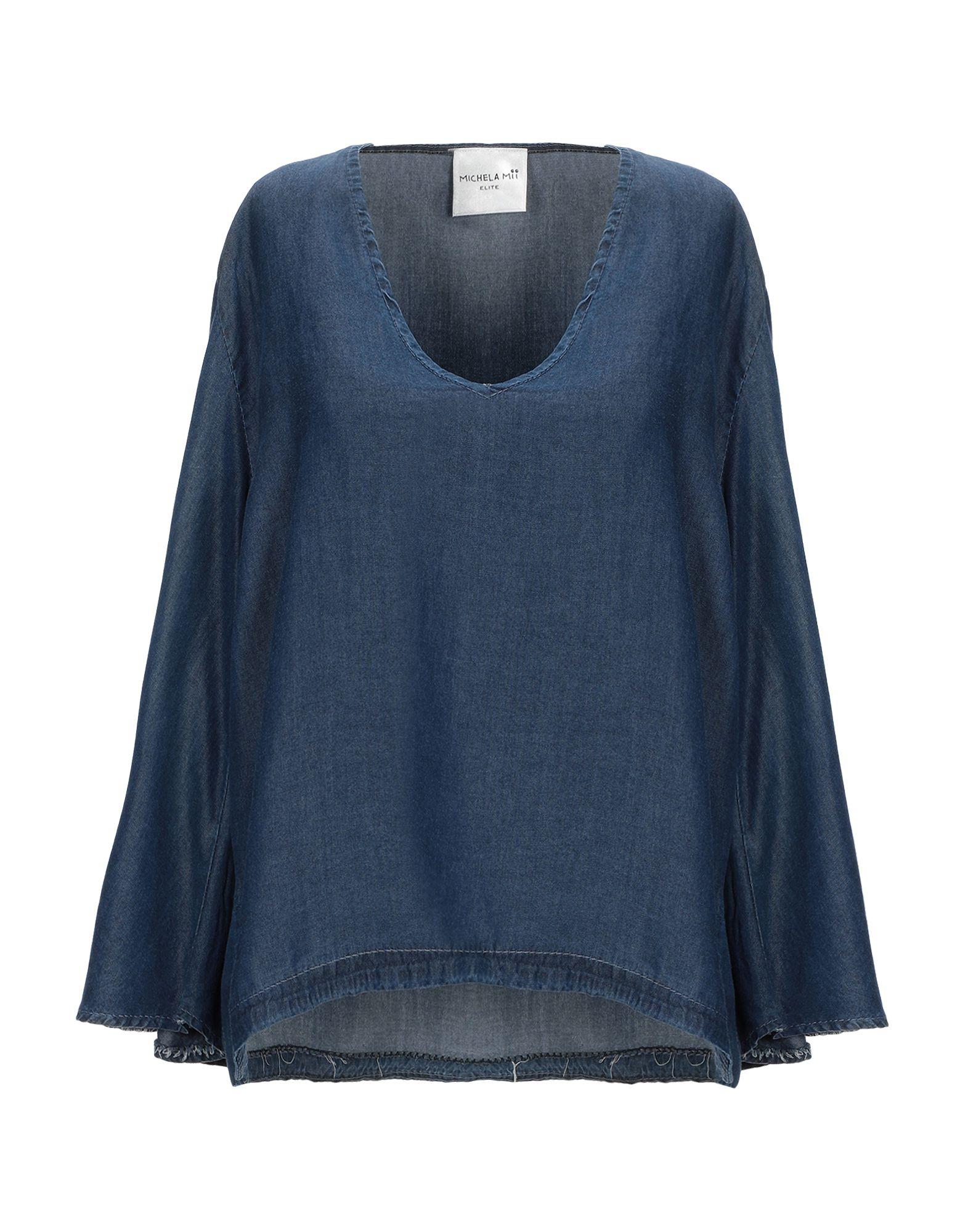 Фото - MICHELA MII Джинсовая рубашка michela mii юбка длиной 3 4