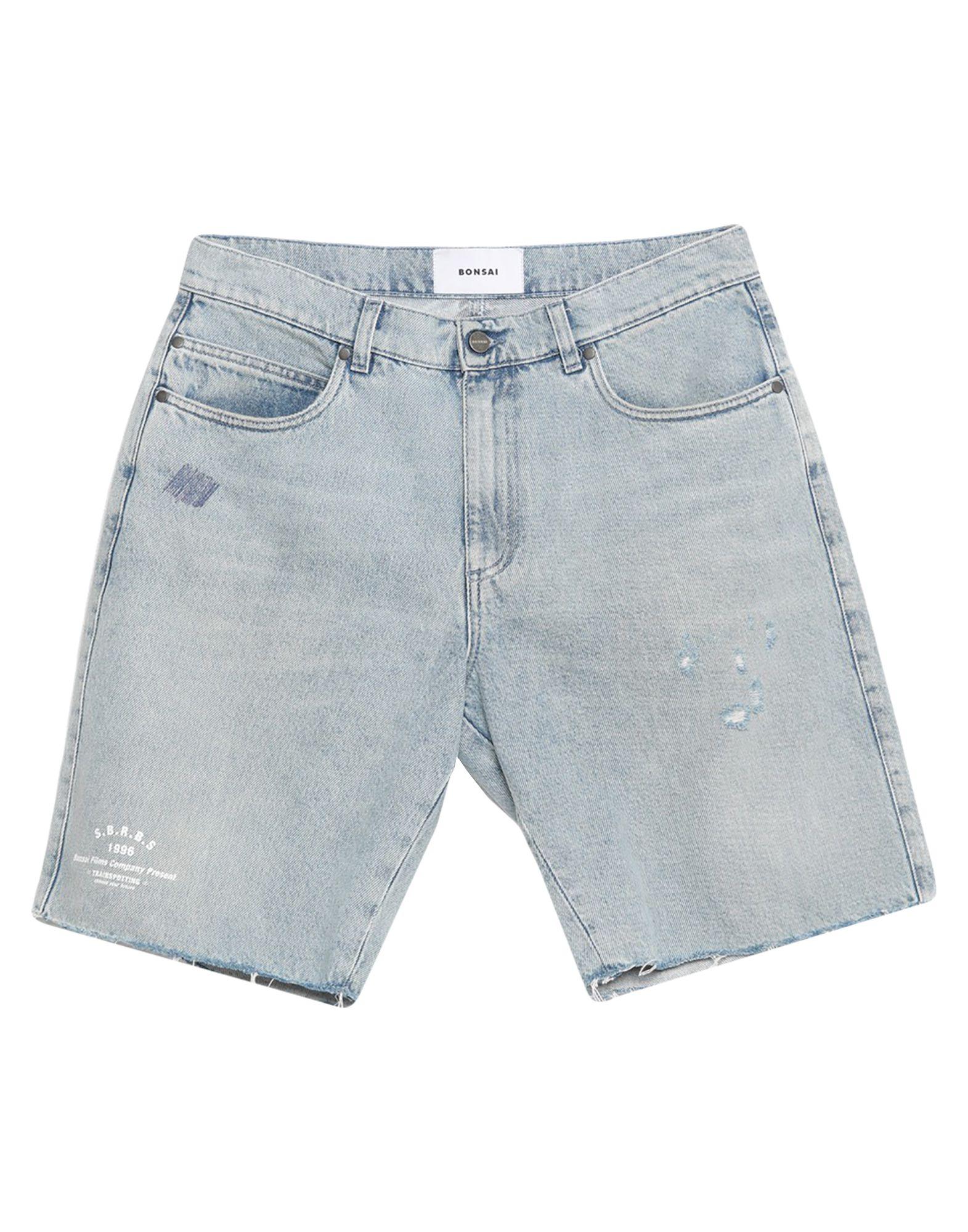 《セール開催中》BONSAI メンズ デニムバミューダパンツ ブルー 33 コットン 100%