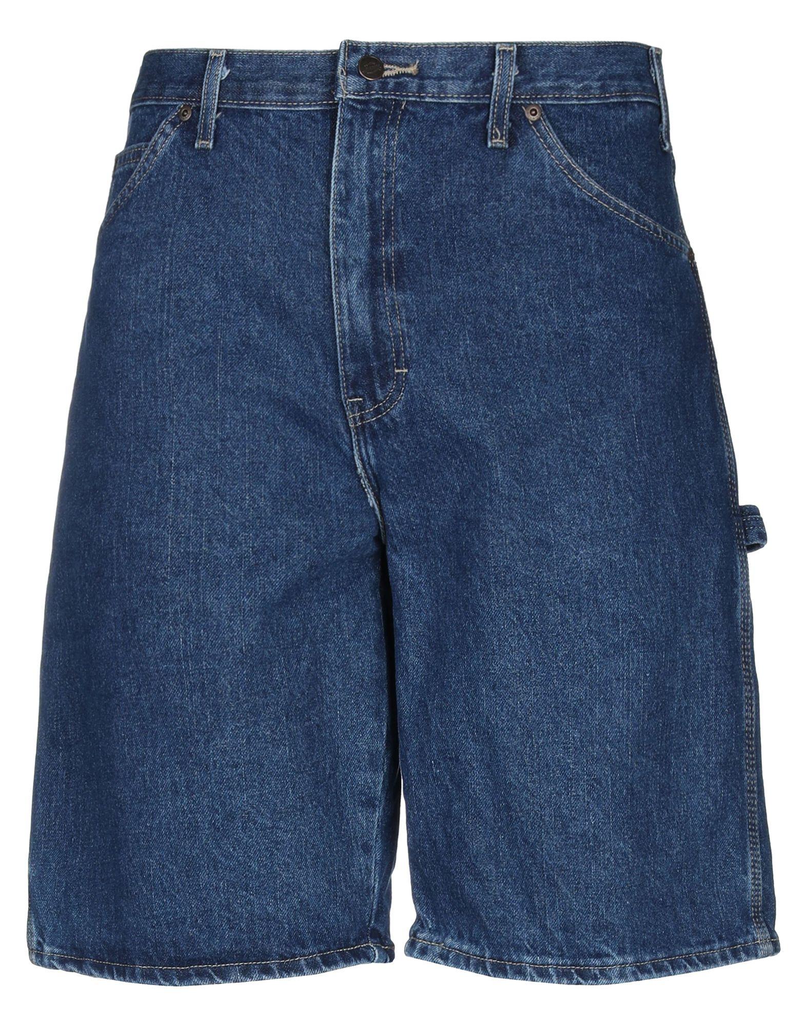 《セール開催中》DICKIES メンズ デニムバミューダパンツ ブルー 34 コットン 100%