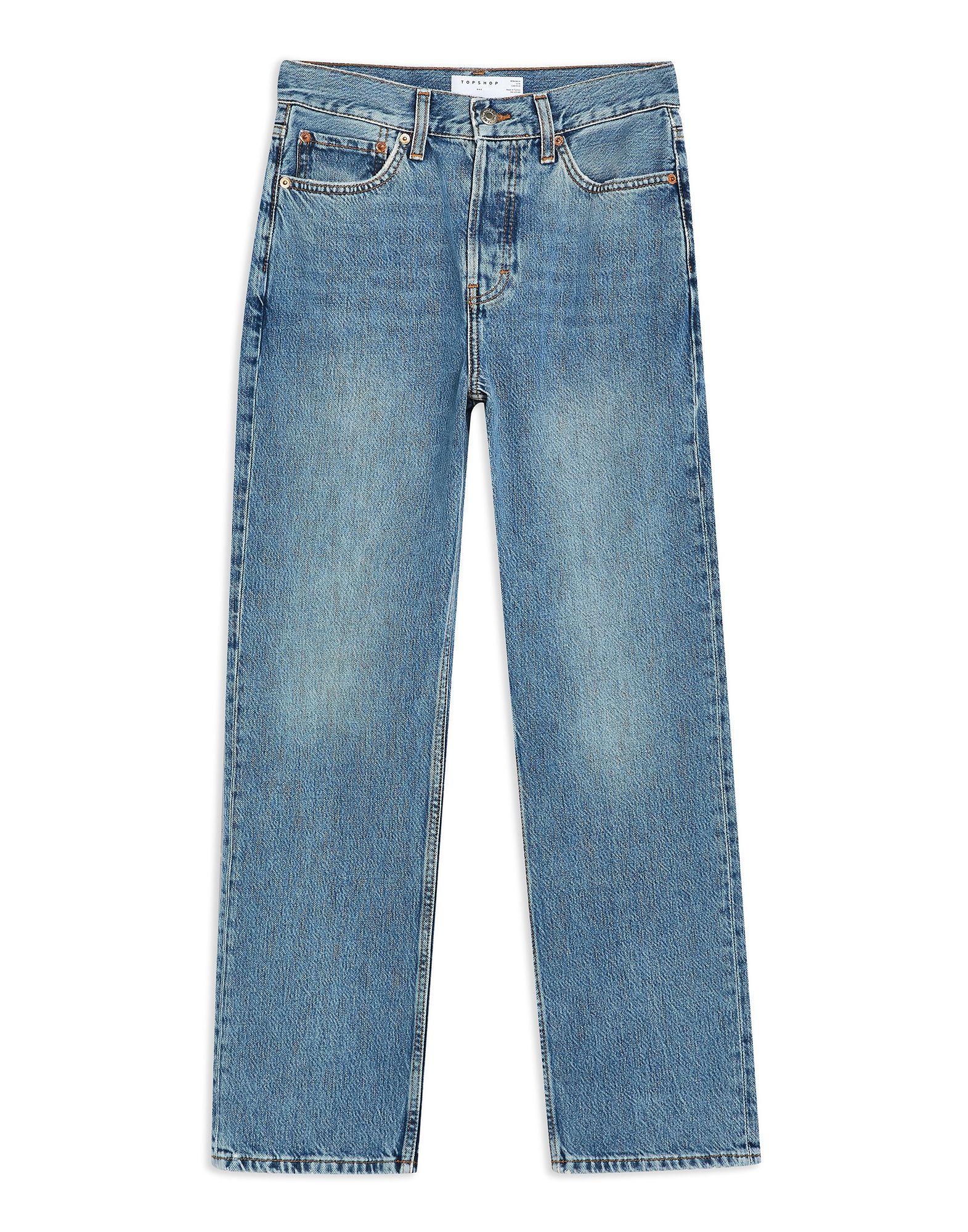 《セール開催中》TOPSHOP レディース ジーンズ ブルー 26W-34L コットン 100% MID BLUE DAD JEANS