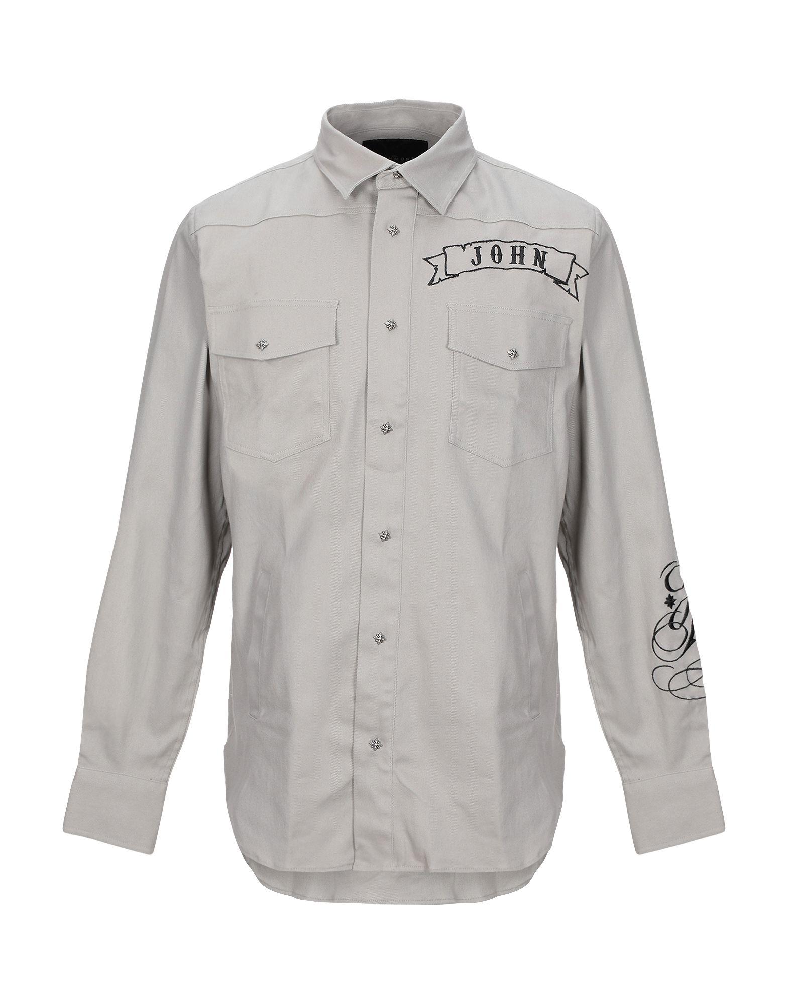 JOHN RICHMOND Джинсовая рубашка цена 2017