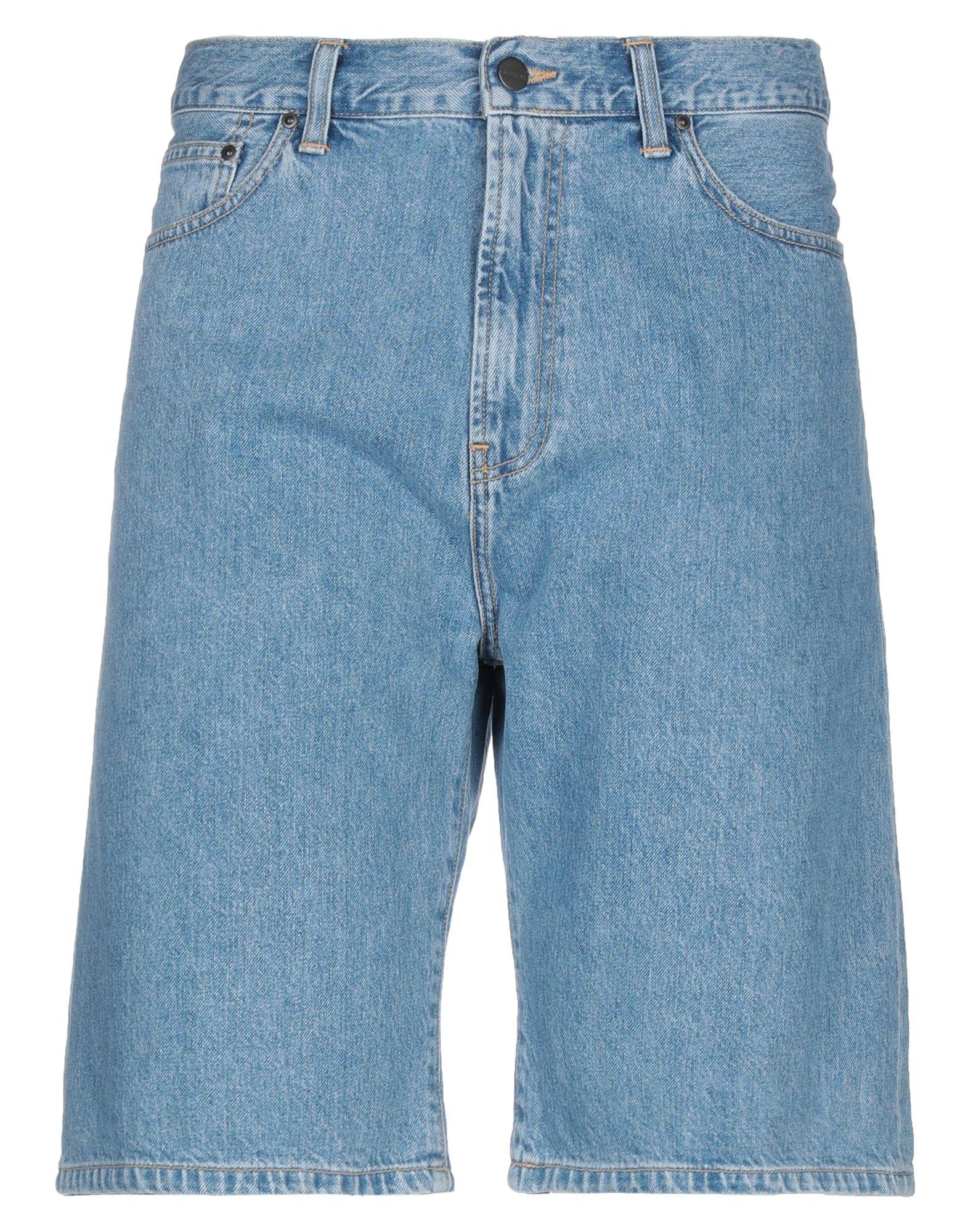 《セール開催中》CARHARTT メンズ デニムバミューダパンツ ブルー 26 コットン 100%