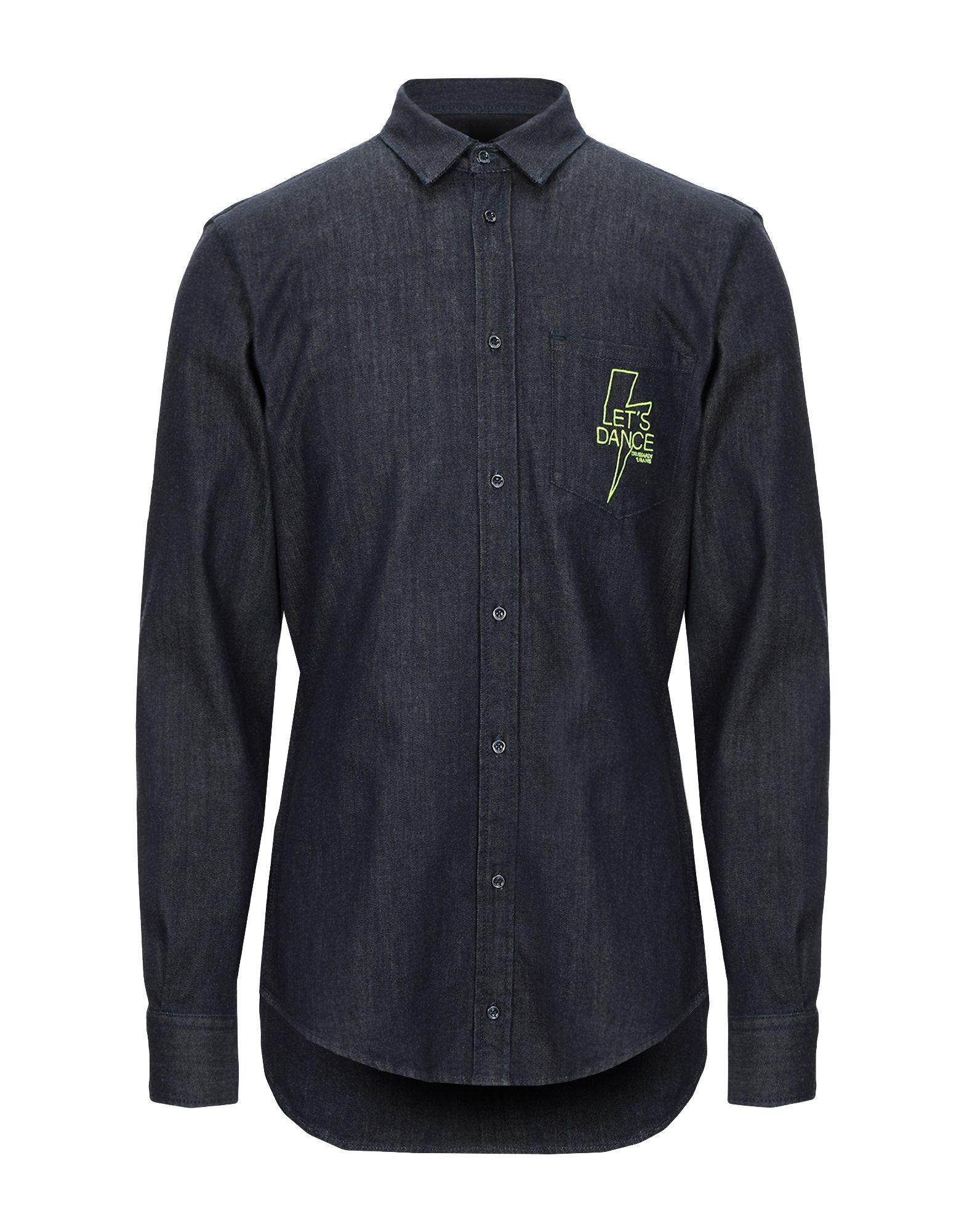 TRUSSARDI JEANS Джинсовая рубашка рубашка trussardi jeans trussardi jeans tr016ewftcd0