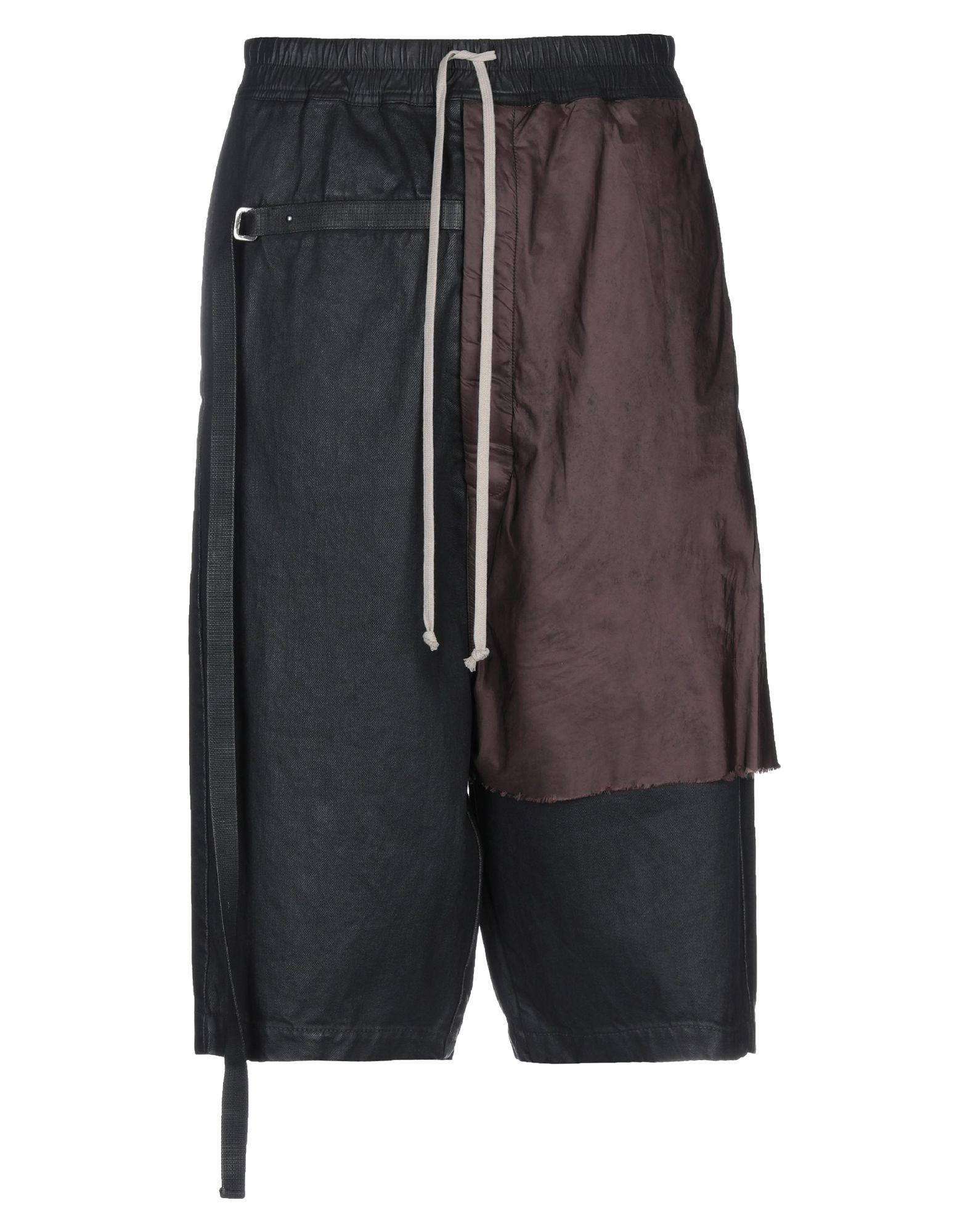 DRKSHDW by RICK OWENS Джинсовые брюки-капри цена 2017