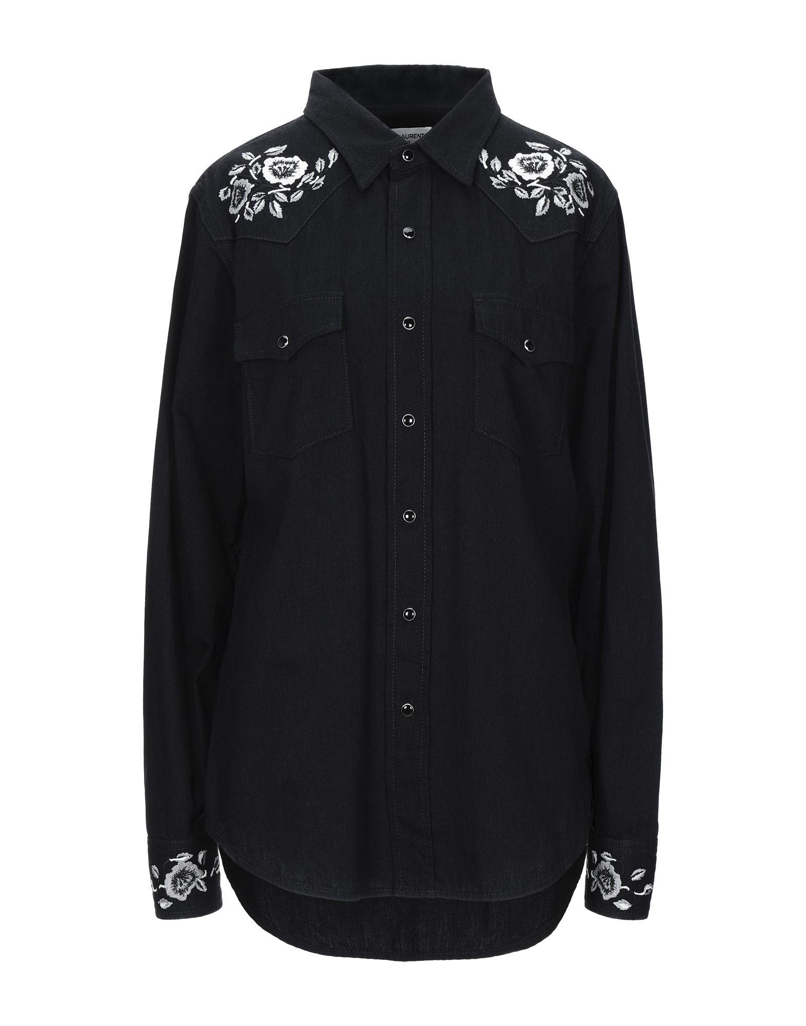 Фото - SAINT LAURENT Джинсовая рубашка рубашка greg greg mp002xm05sgb