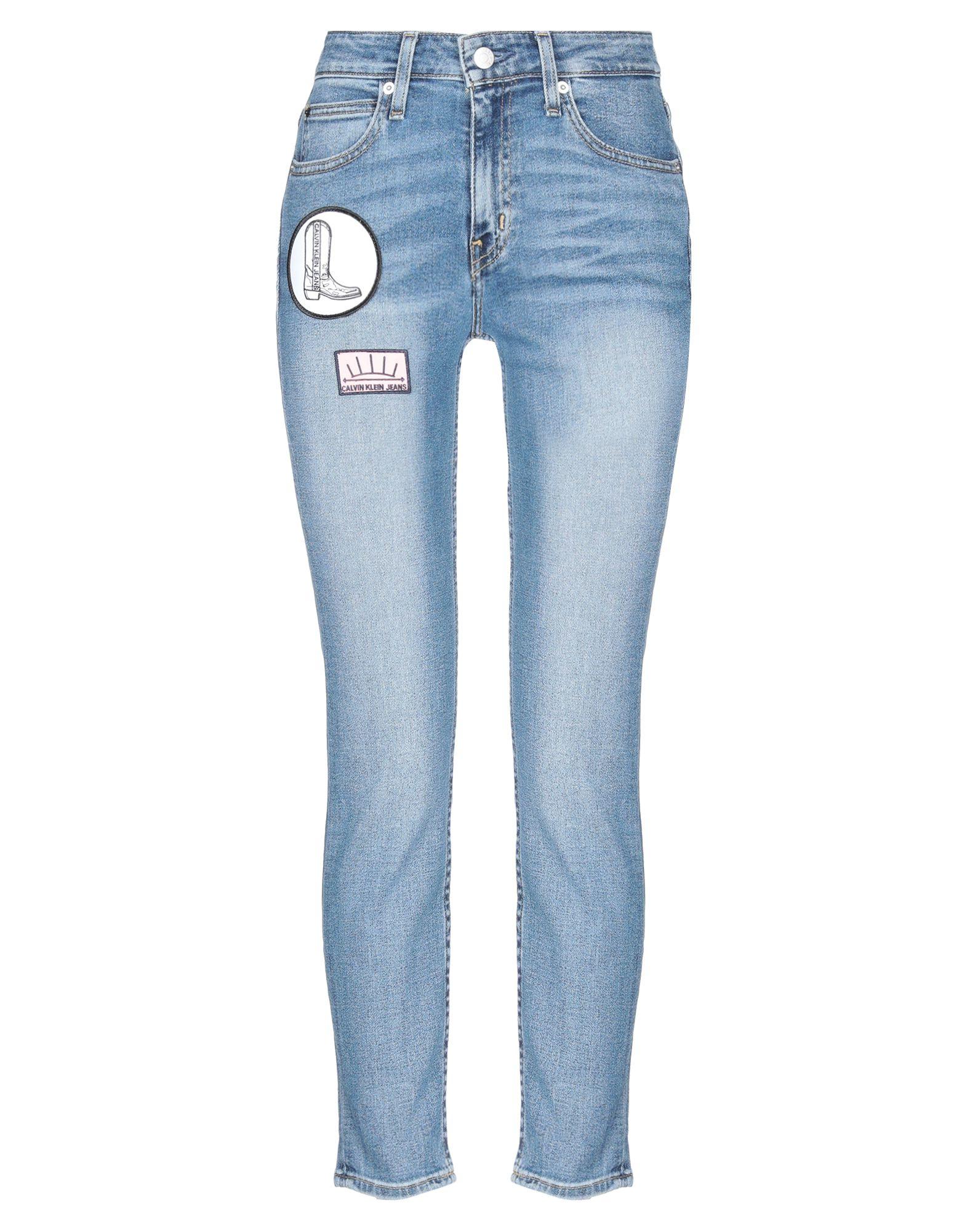 джемпер женский calvin klein jeans цвет серый j20j208528 0390 размер xs 40 42 CALVIN KLEIN JEANS Джинсовые брюки