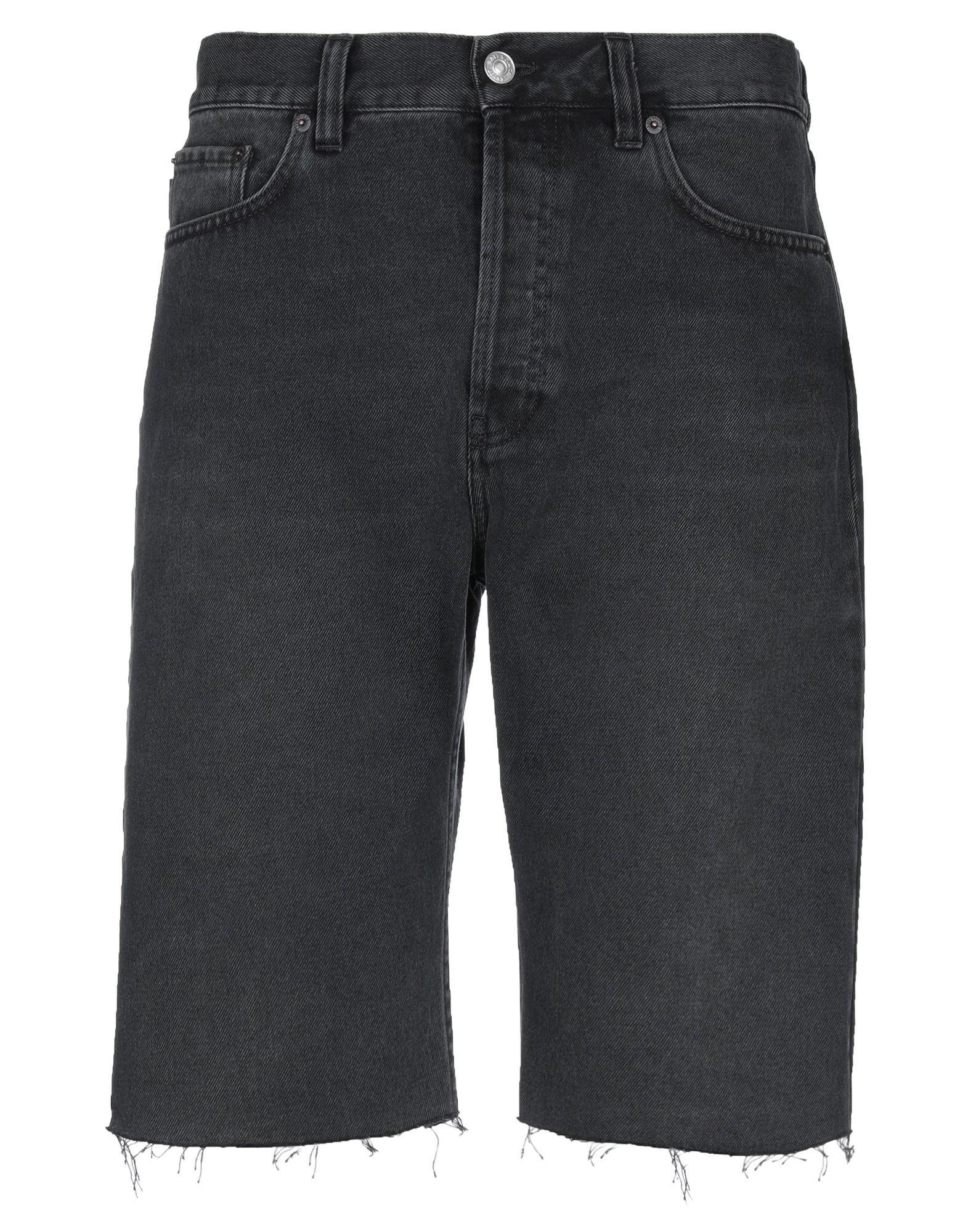 《セール開催中》BALENCIAGA メンズ デニムバミューダパンツ ブラック 31 コットン 100%