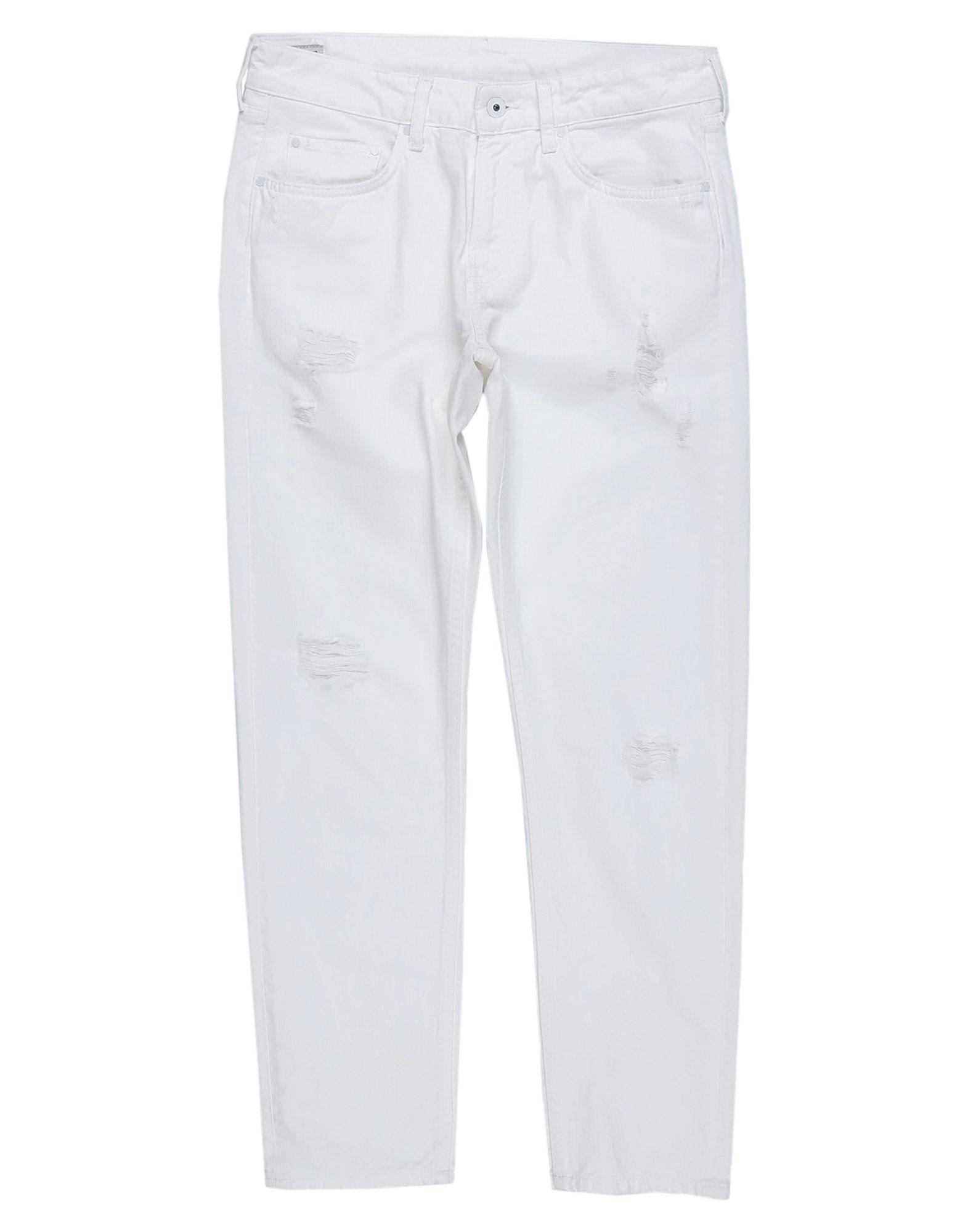 《セール開催中》PEPE JEANS メンズ ジーンズ ホワイト 27 コットン 100%