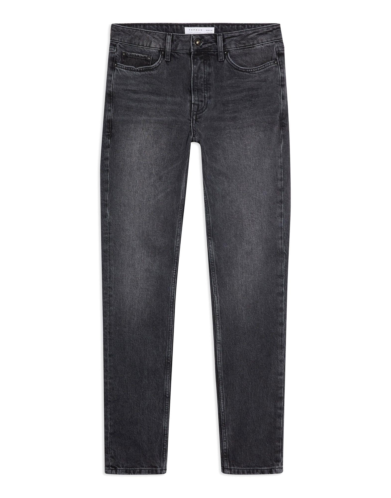《セール開催中》TOPMAN メンズ ジーンズ ブラック 28W-32L コットン 99% / ポリウレタン 1% CONSIDERED WASHED BLACK STRETCH SKINNY JEANS