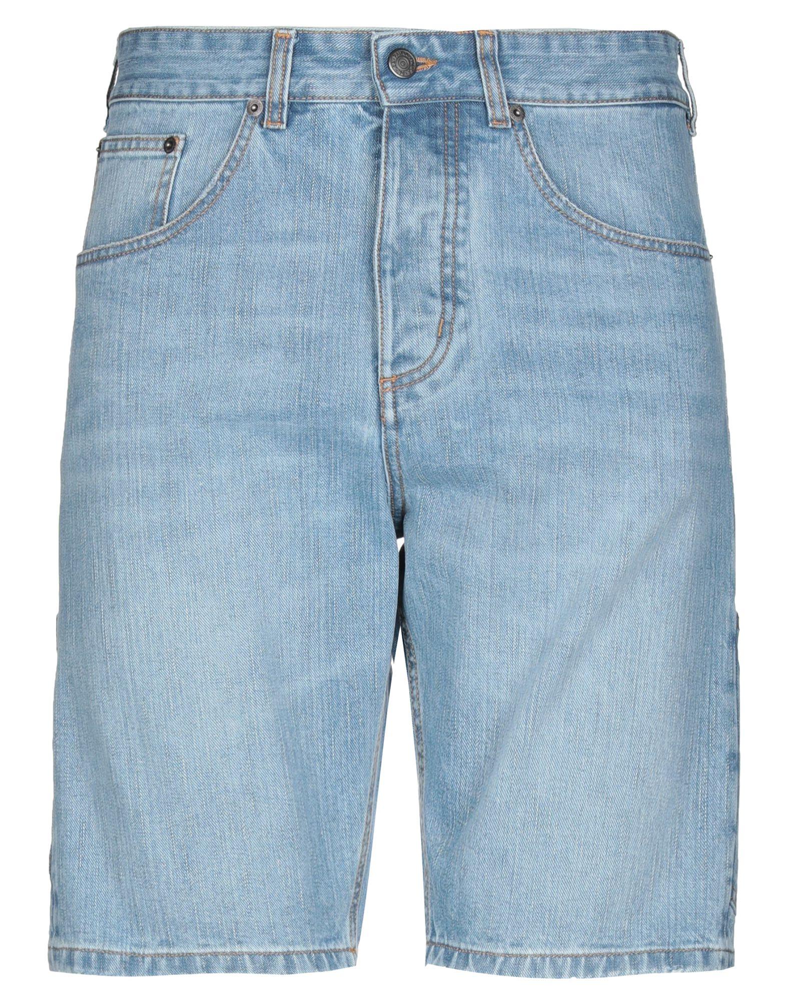 《セール開催中》PAURA メンズ デニムバミューダパンツ ブルー XS コットン 100%