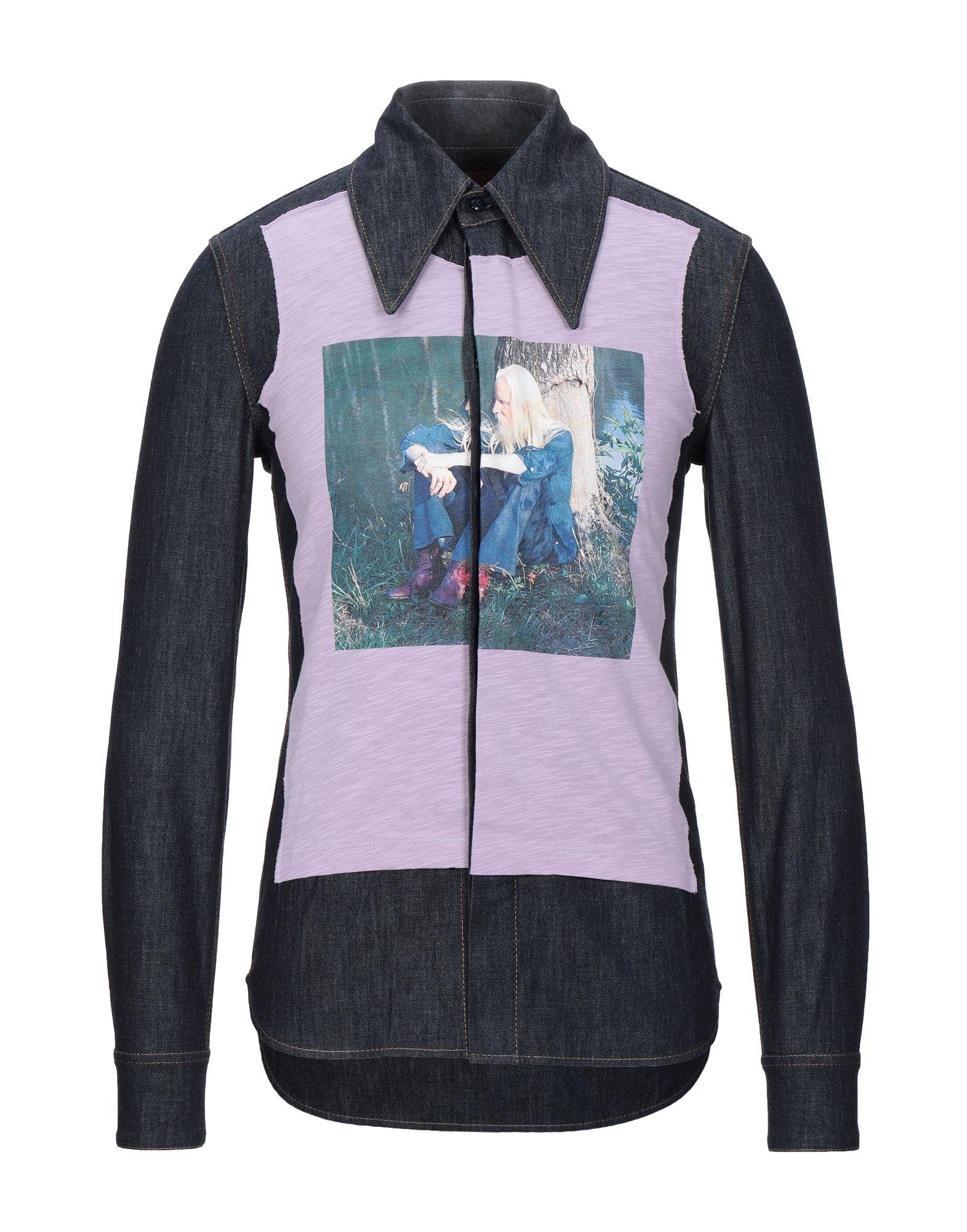 ACNE STUDIOS BLÅ KONST Джинсовая рубашка acne studios рубашка с асимметричным низом