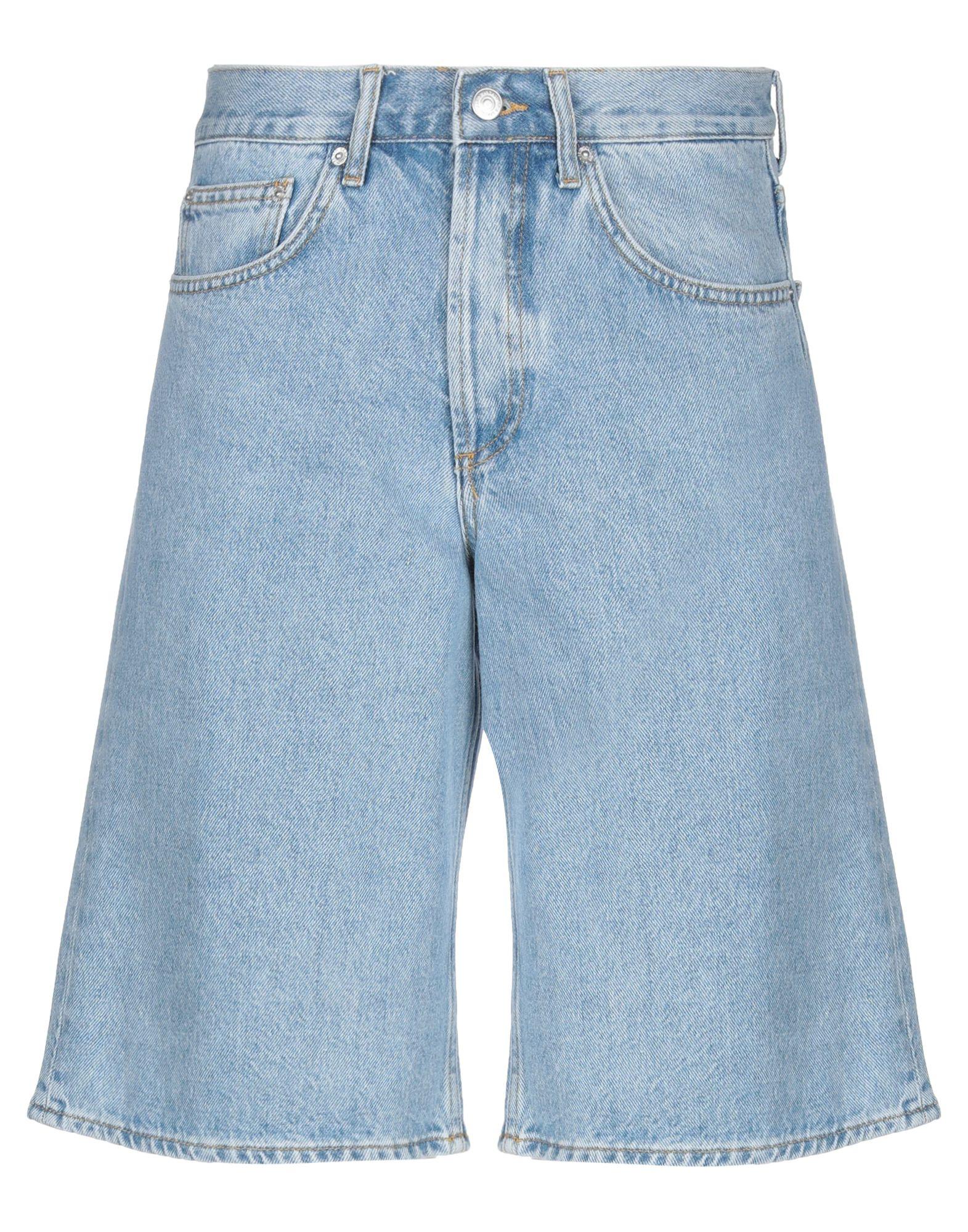 《セール開催中》SANDRO メンズ デニムバミューダパンツ ブルー 34 コットン 100%