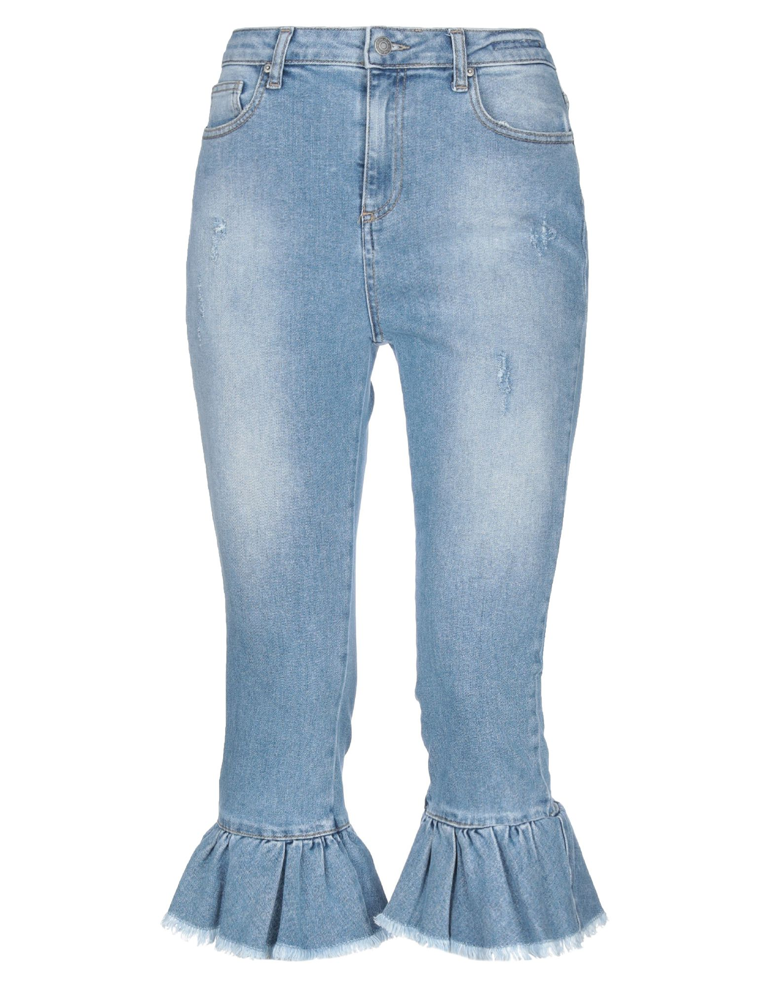 VICOLO Джинсовые брюки-капри цена 2017