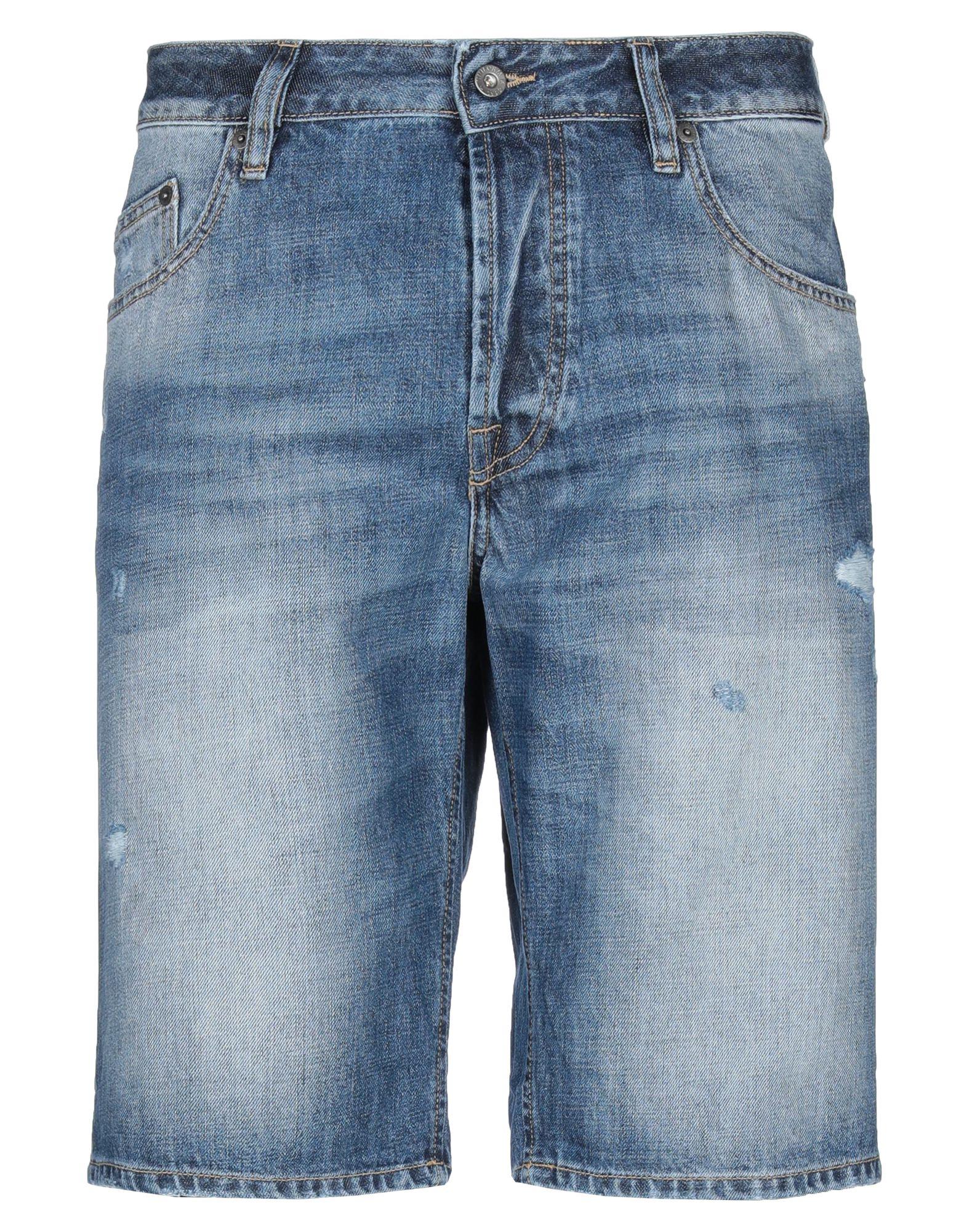《セール開催中》UNIFORM メンズ デニムバミューダパンツ ブルー 29 コットン 100%