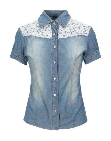Фото - Джинсовая рубашка от KORALLINE синего цвета