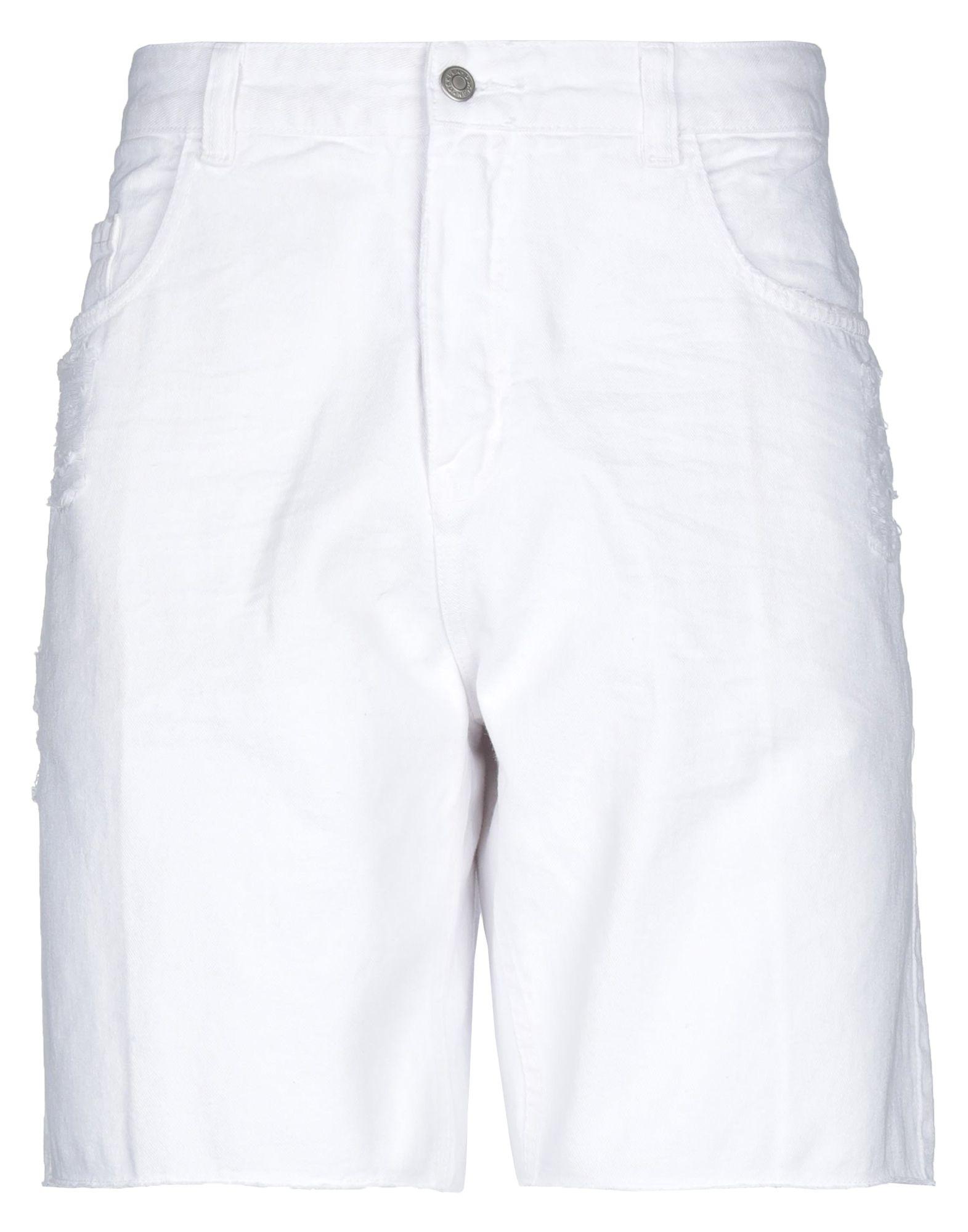 《セール開催中》OSKLEN メンズ デニムバミューダパンツ ホワイト 34 コットン 100%
