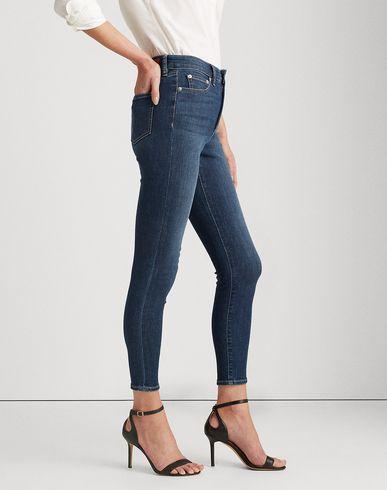 Фото 2 - Джинсовые брюки от LAUREN RALPH LAUREN синего цвета