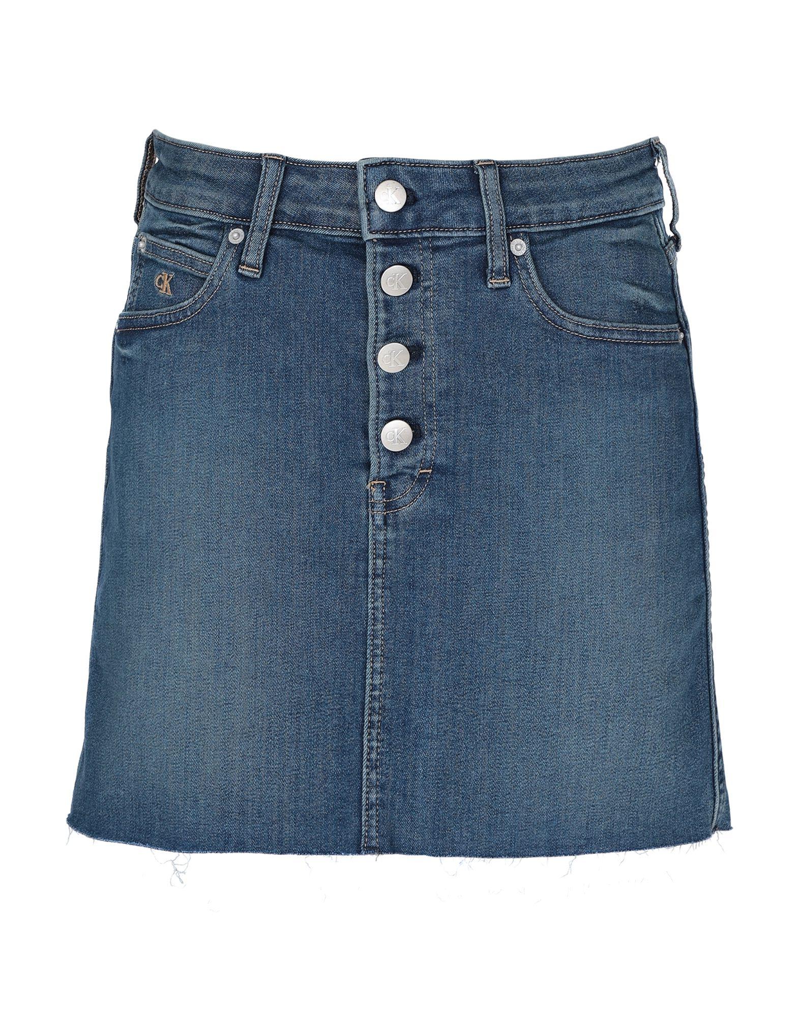 джемпер женский calvin klein jeans цвет серый j20j208528 0390 размер xs 40 42 CALVIN KLEIN JEANS Джинсовая юбка