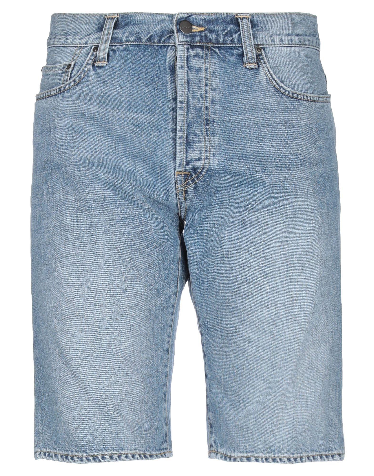 《セール開催中》CARHARTT メンズ デニムバミューダパンツ ブルー 28 コットン 100%