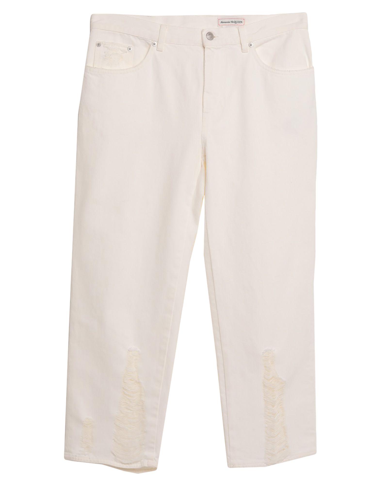 ALEXANDER MCQUEEN Denim pants - Item 42796180