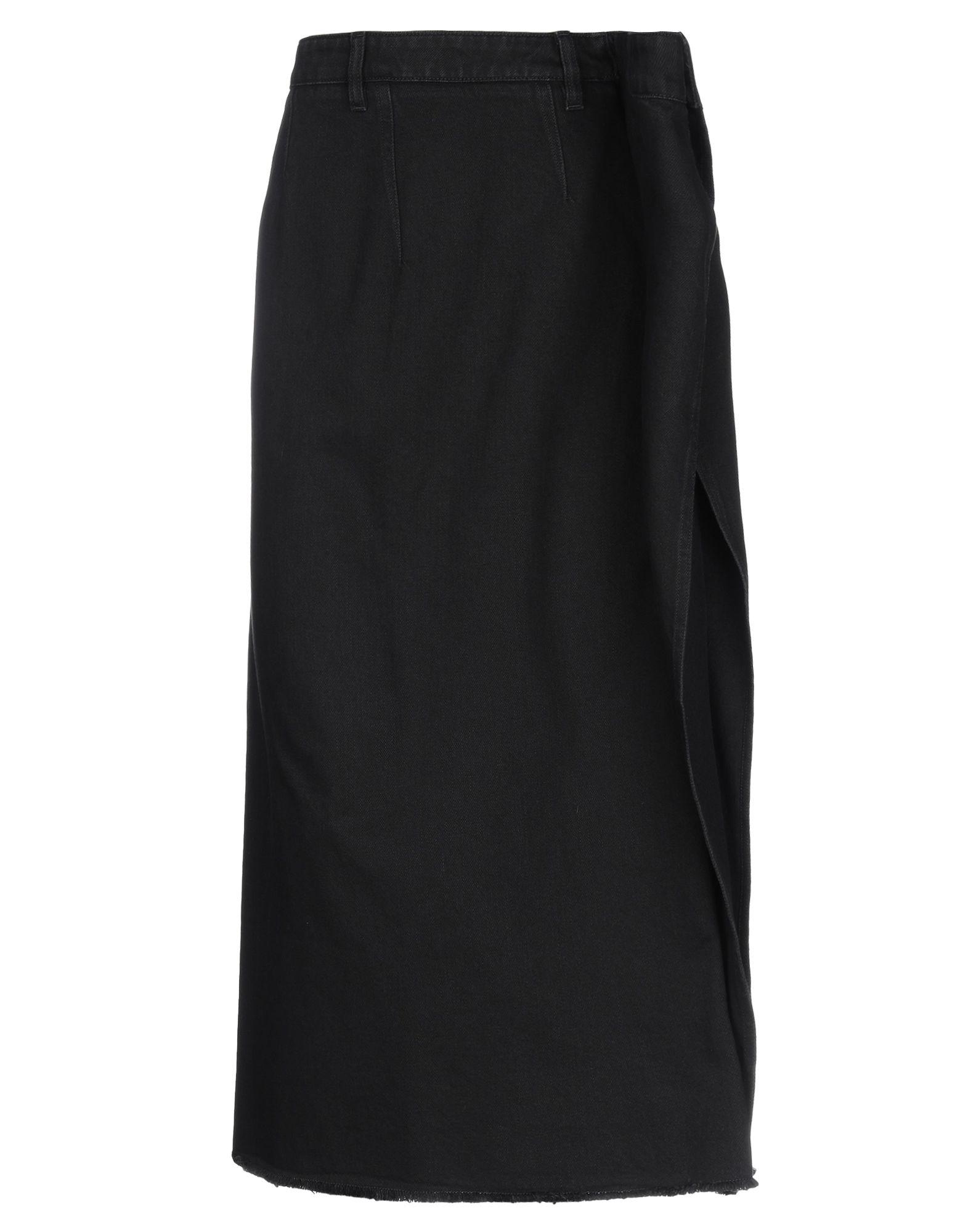 MM6 MAISON MARGIELA Джинсовая юбка юбка джинсовая с нагрудником и лямками barkito деним голубой