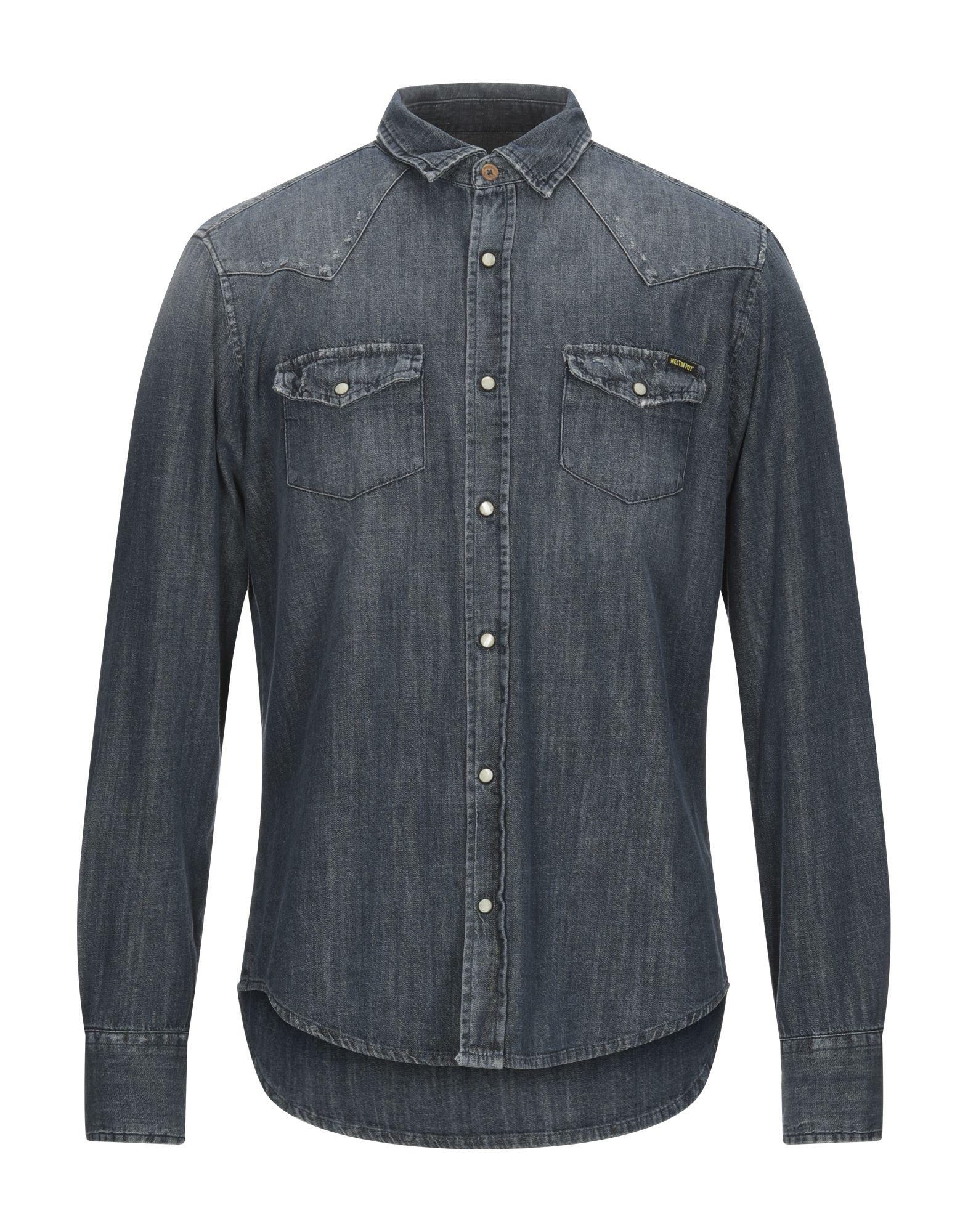 MELTIN POT Джинсовая рубашка meltin pot джинсовая рубашка