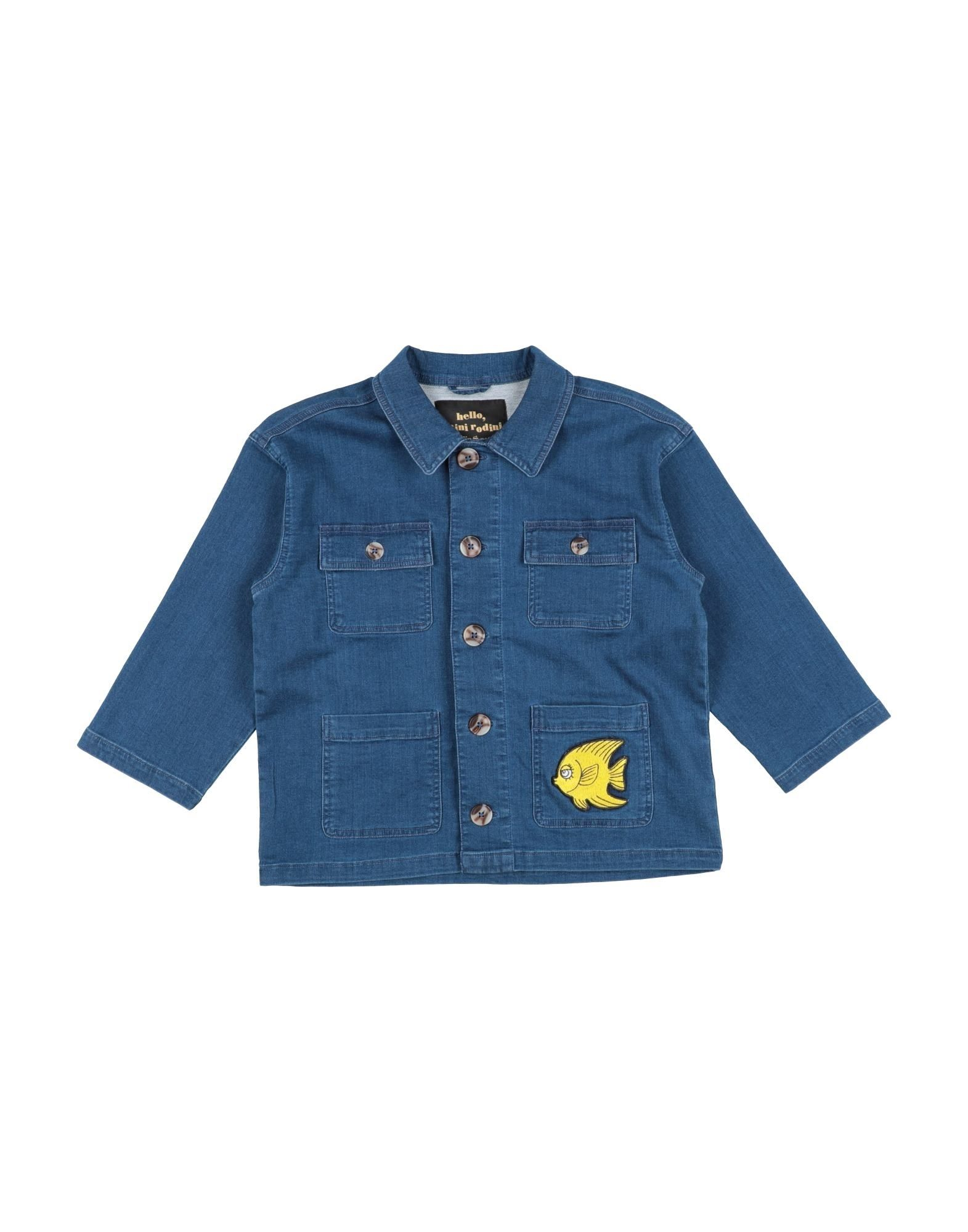 MINI RODINI Джинсовая рубашка рубашка mini maxi