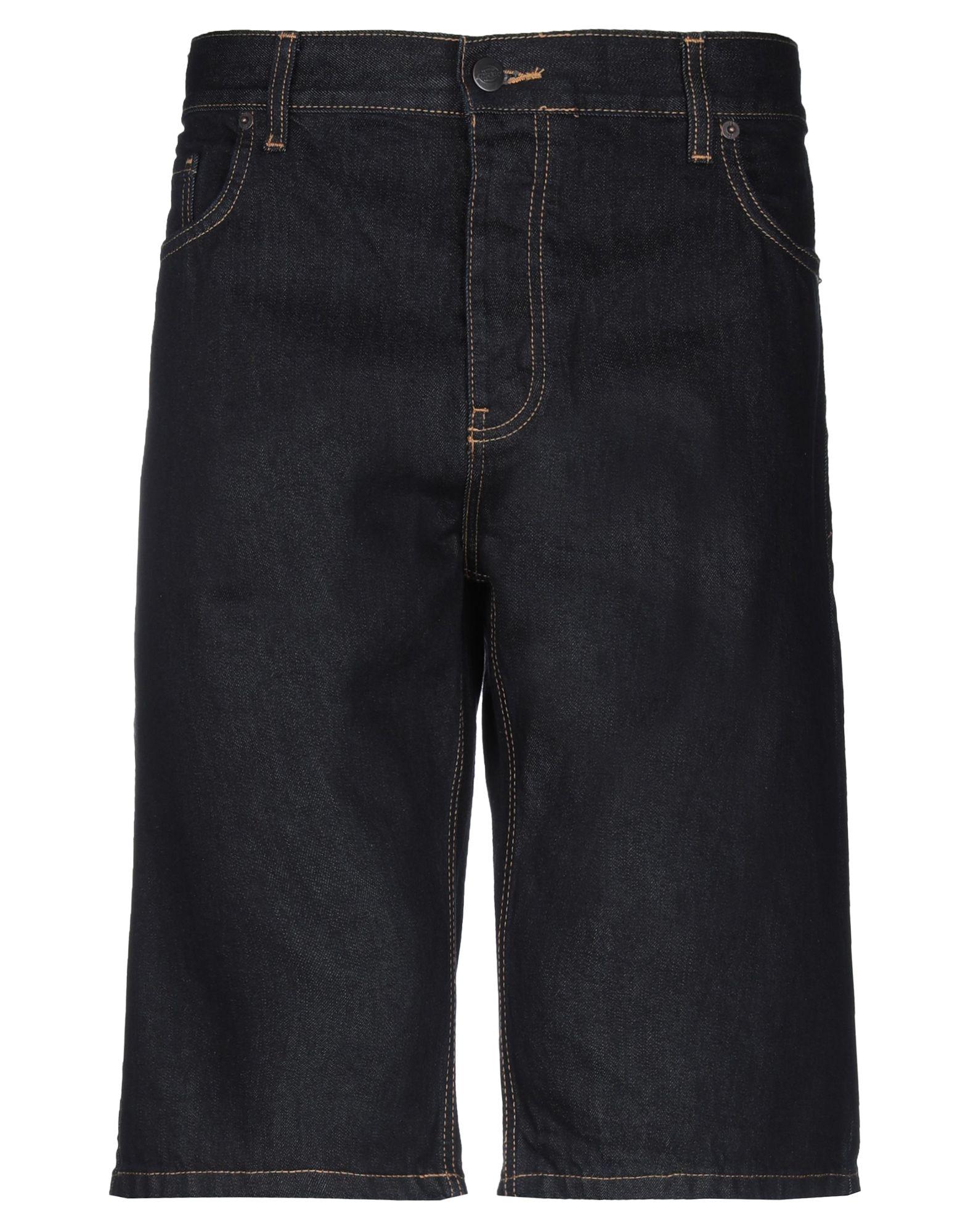 《セール開催中》DICKIES メンズ デニムバミューダパンツ ブルー 33 コットン 100%