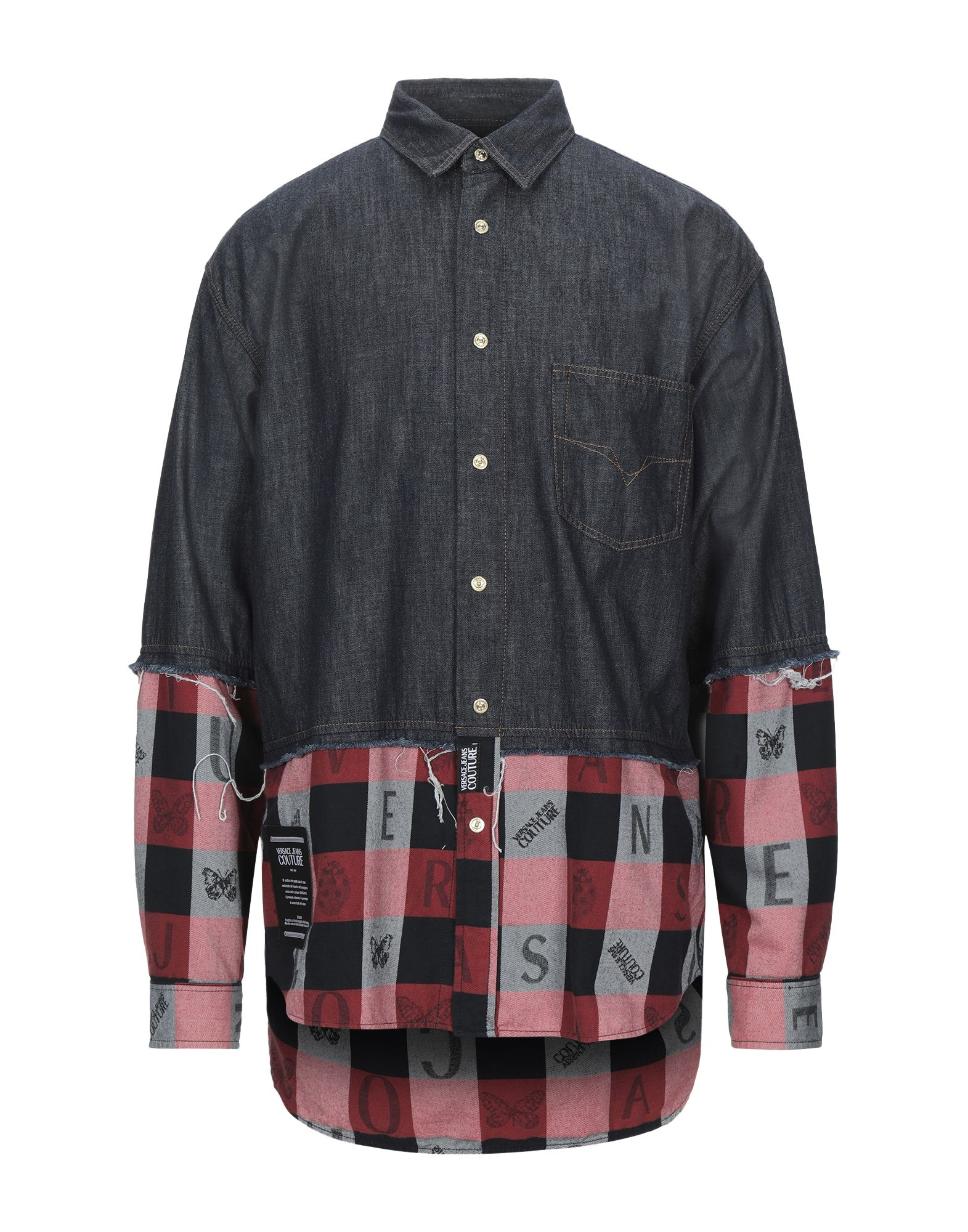 VERSACE JEANS COUTURE Джинсовая рубашка юбка джинсовая versace jeans couture versace jeans couture ve035ewhytm4