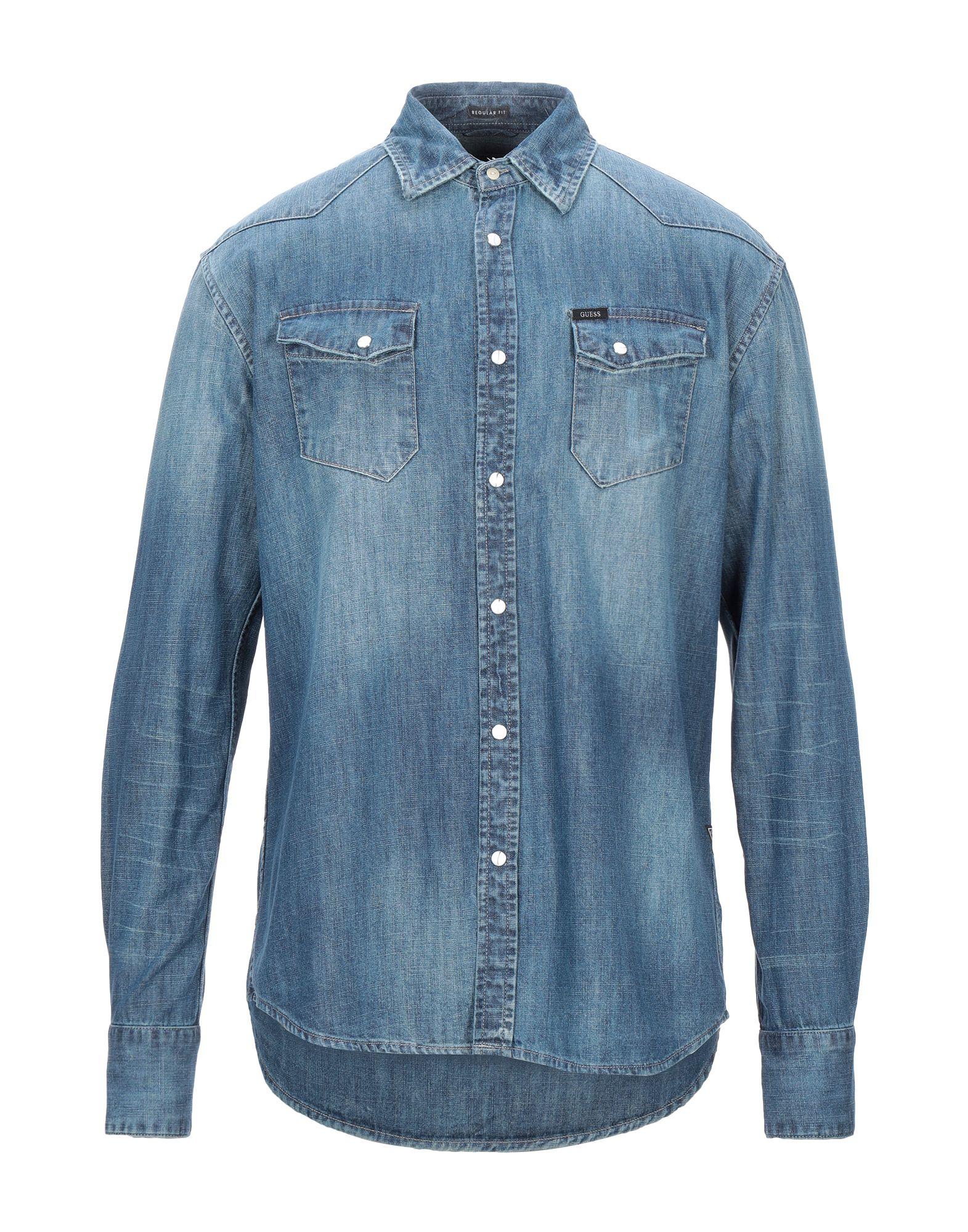GUESS Джинсовая рубашка рубашка джинсовая guess guess gu460ebwzu45