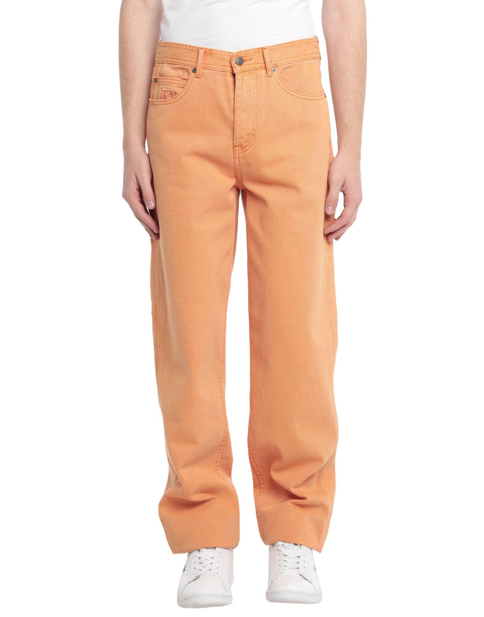 《セール開催中》KARL KANI メンズ ジーンズ オレンジ XS コットン 100%