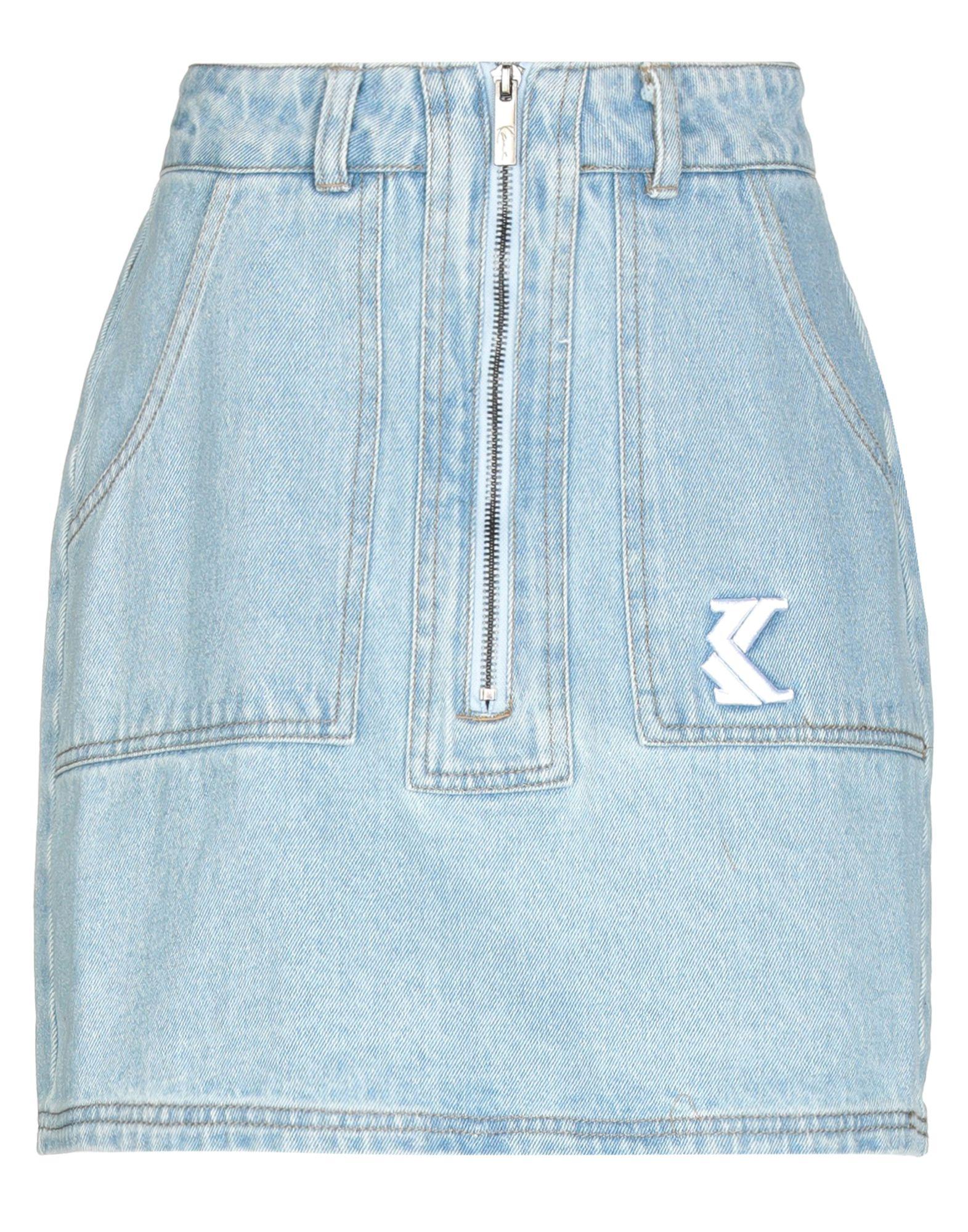《セール開催中》KARL KANI レディース デニムスカート ブルー XS コットン 100%