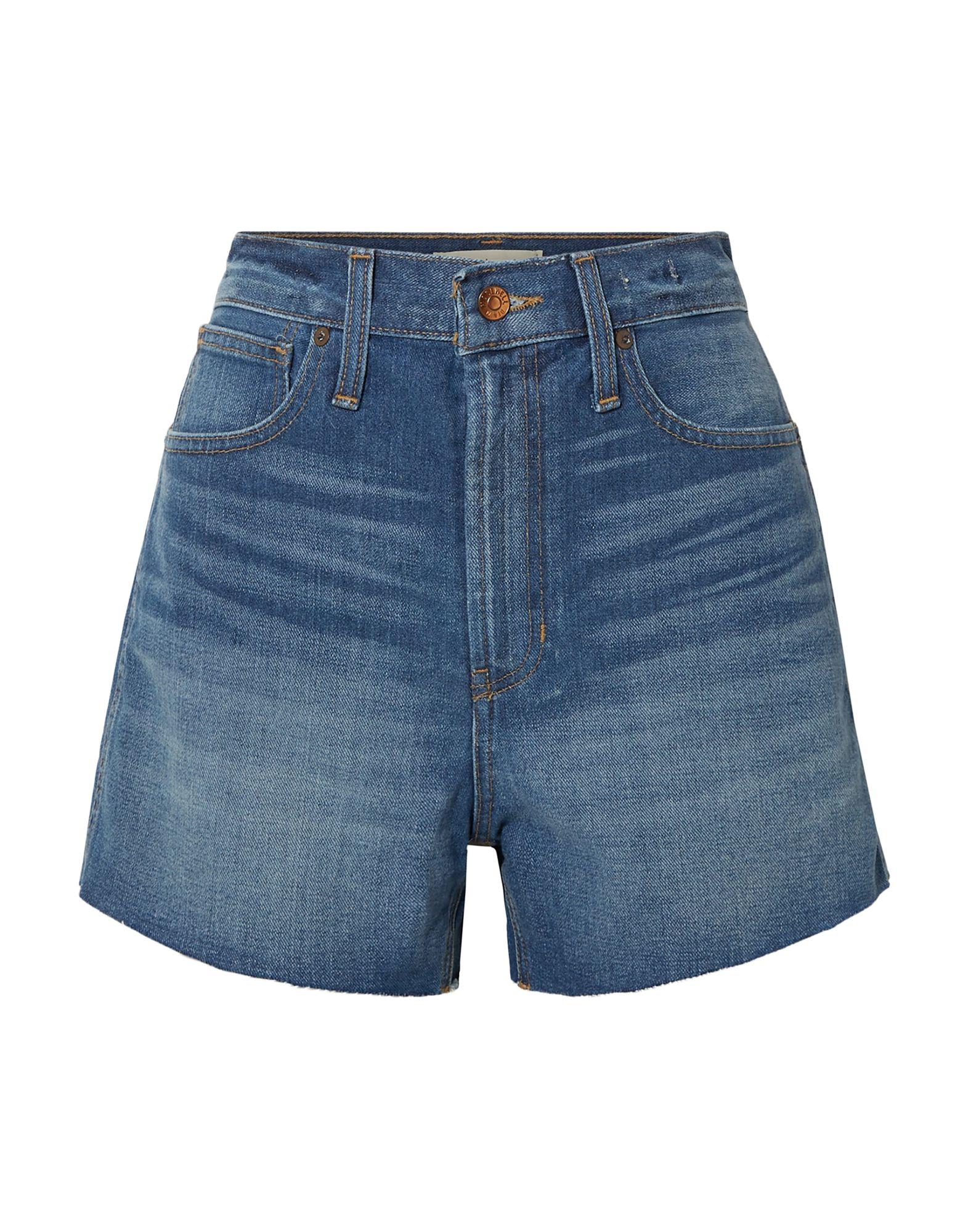 madewell джинсовые брюки капри MADEWELL Джинсовые шорты