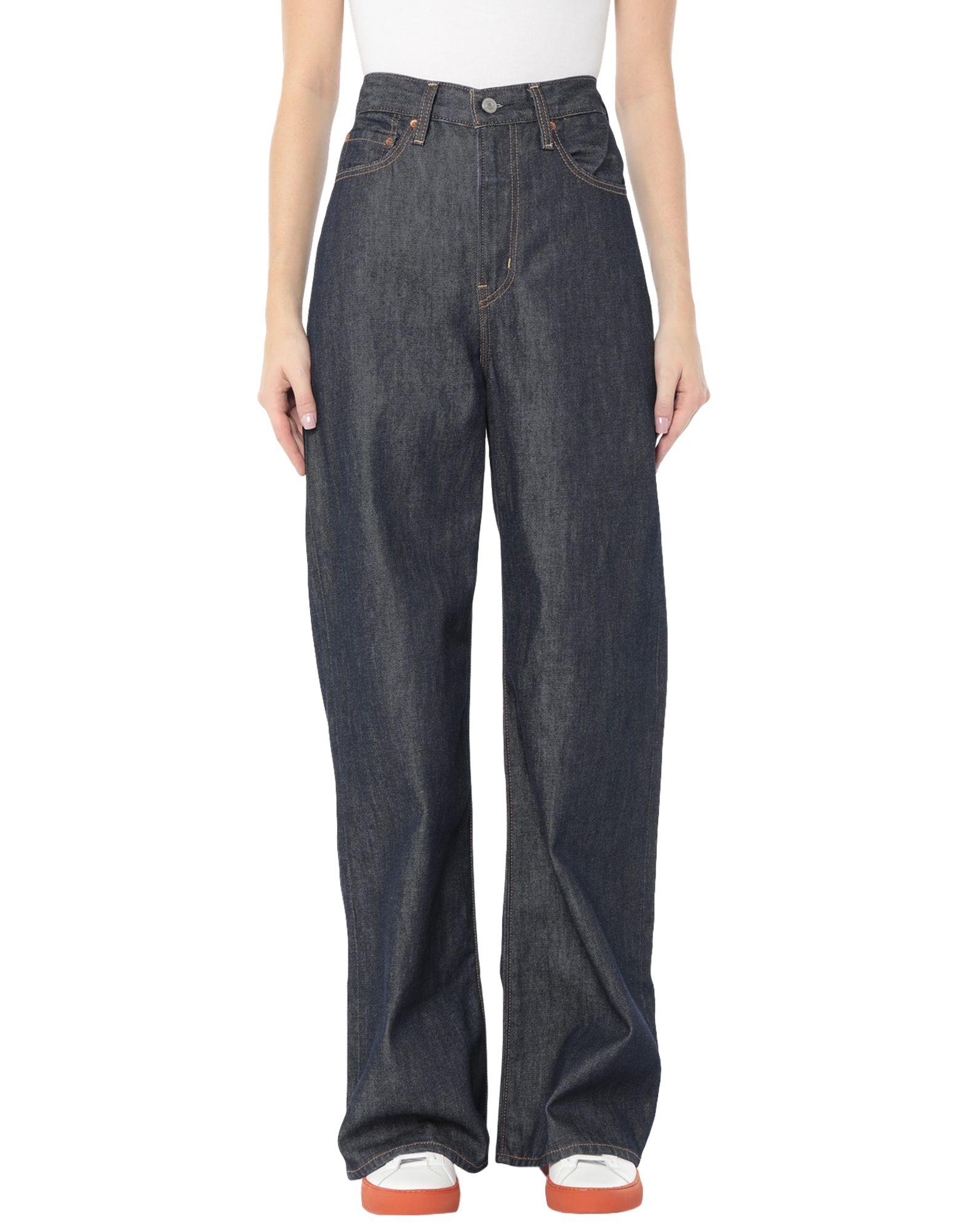 Фото - LEVI' S Джинсовые брюки plus striped wide leg pants with belt